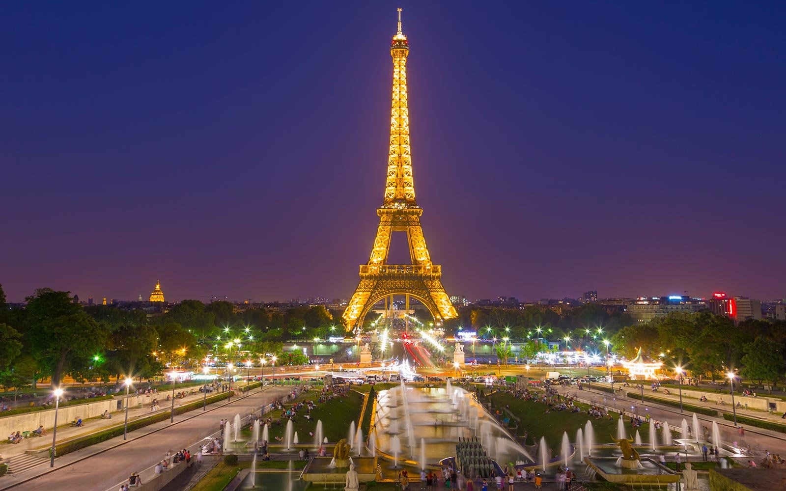 Eiffel Tower Landmark Paris France Trocadero View