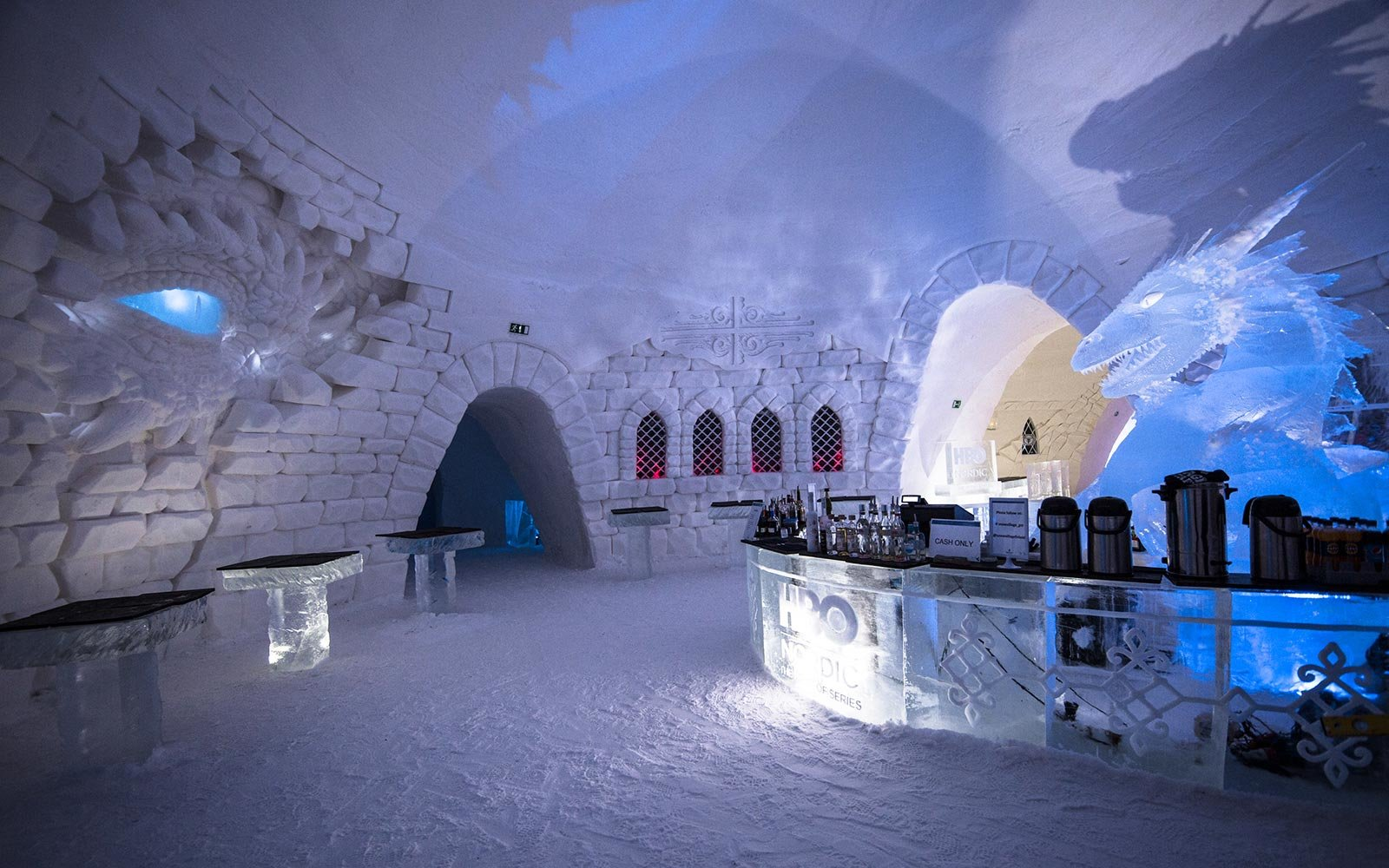 Game of Thrones HBO Nordic Ice Hotel Snow Village Lapland Finland