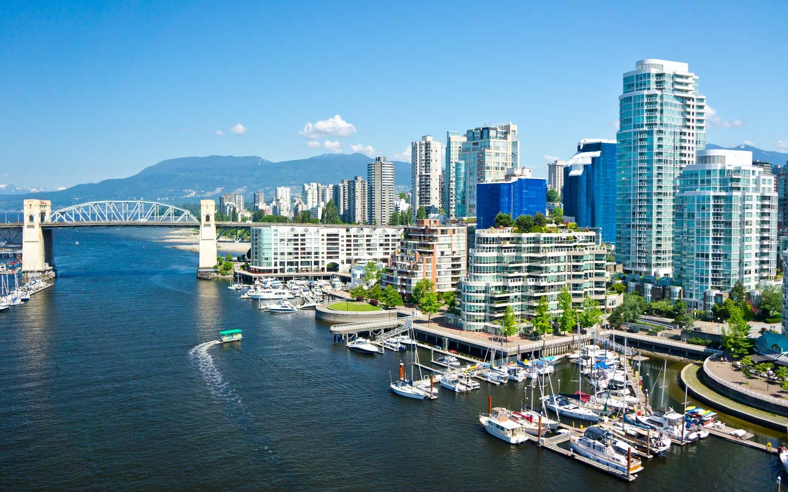 Vancouver, Canada skyline on a sunny day