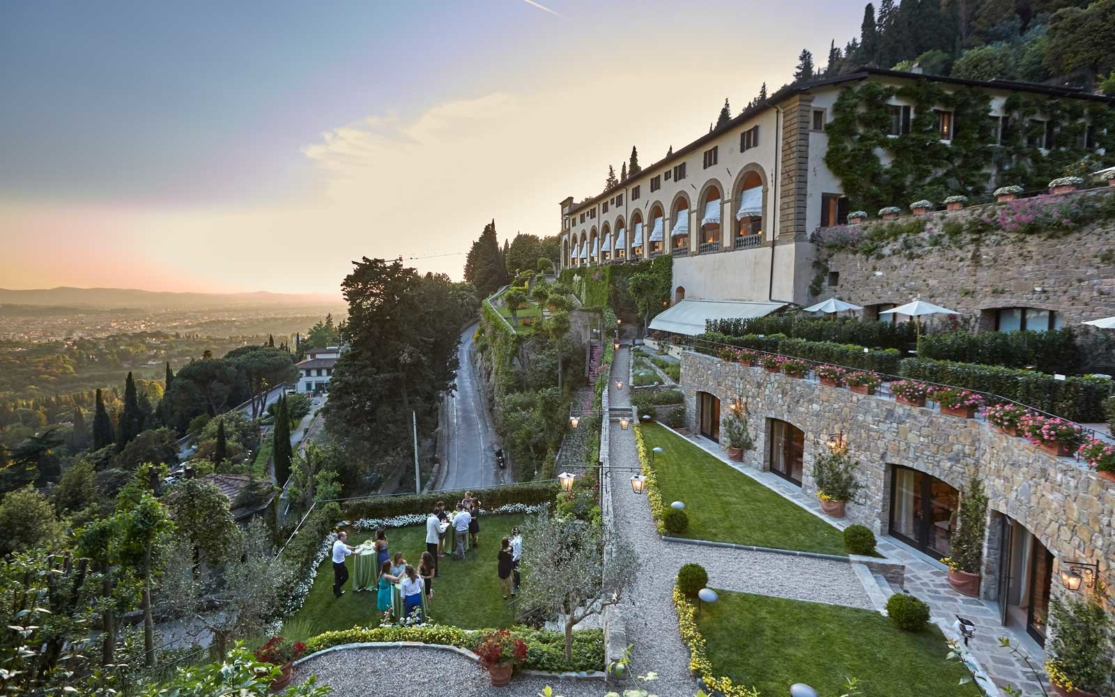 Exterior of the Belmond Villa San Michele hotel, in Florence, Italy