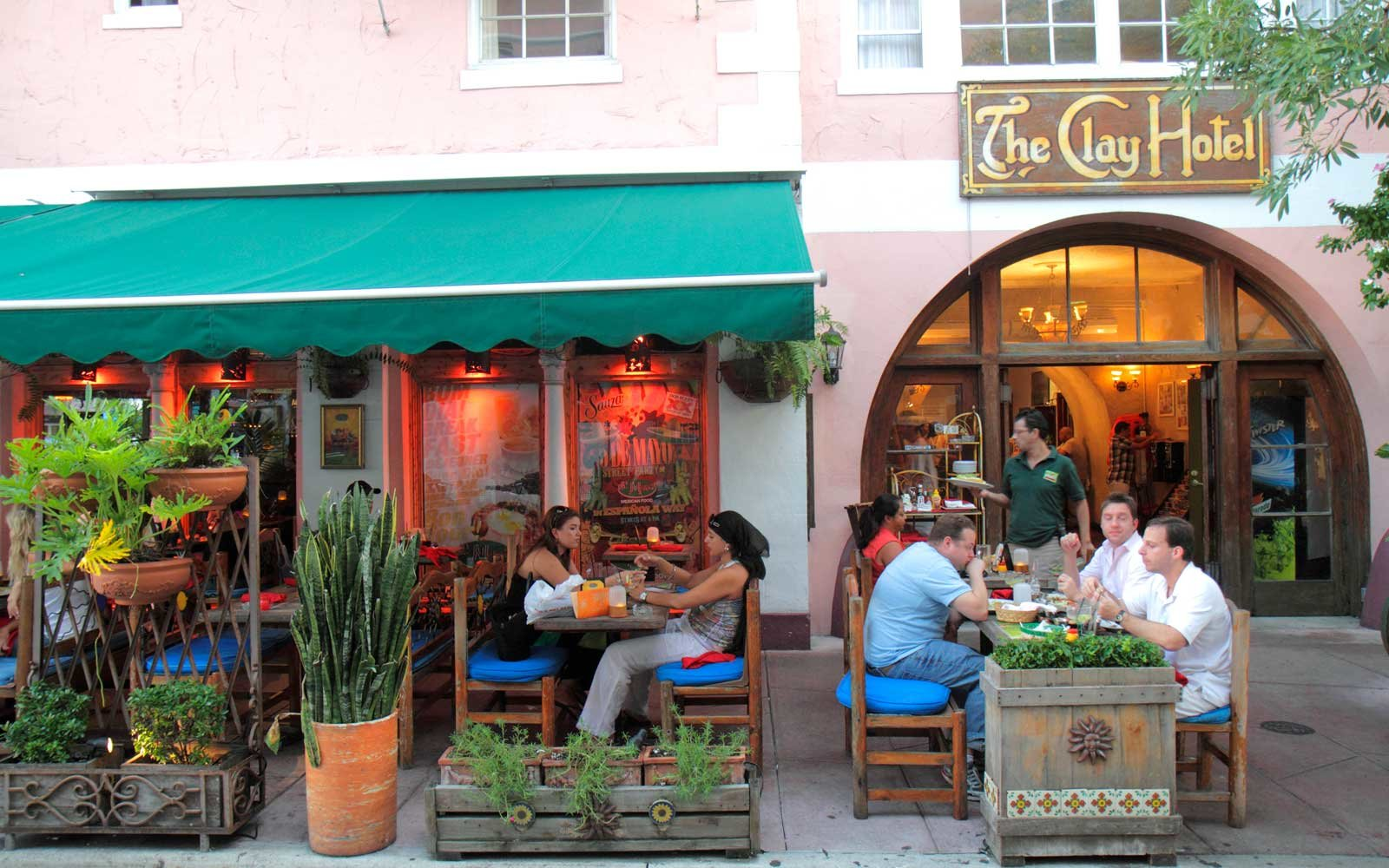 Cafe outside the Clay Hotel, Miami, Florida