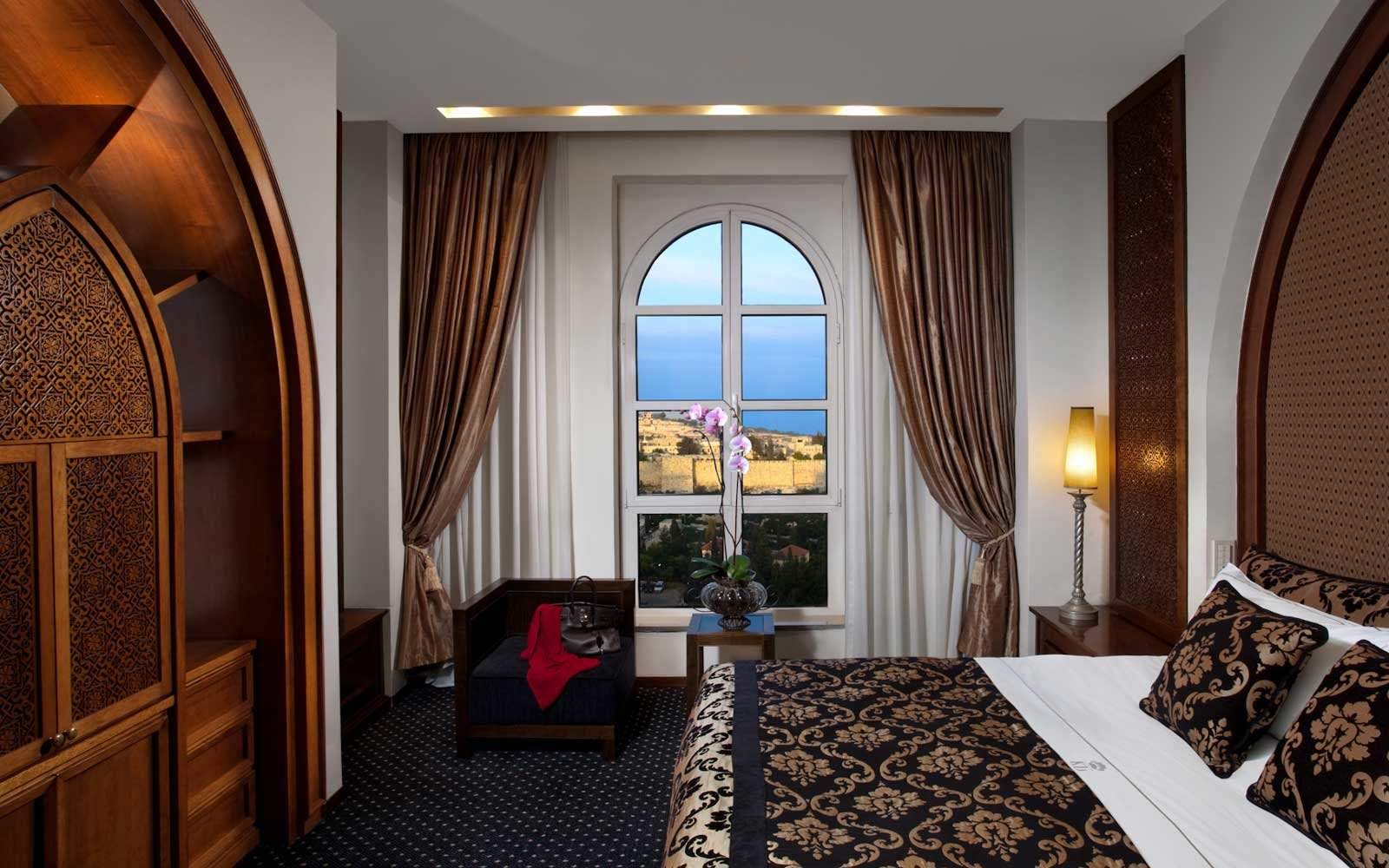 Room at the King David Hotel, in Jerusalem