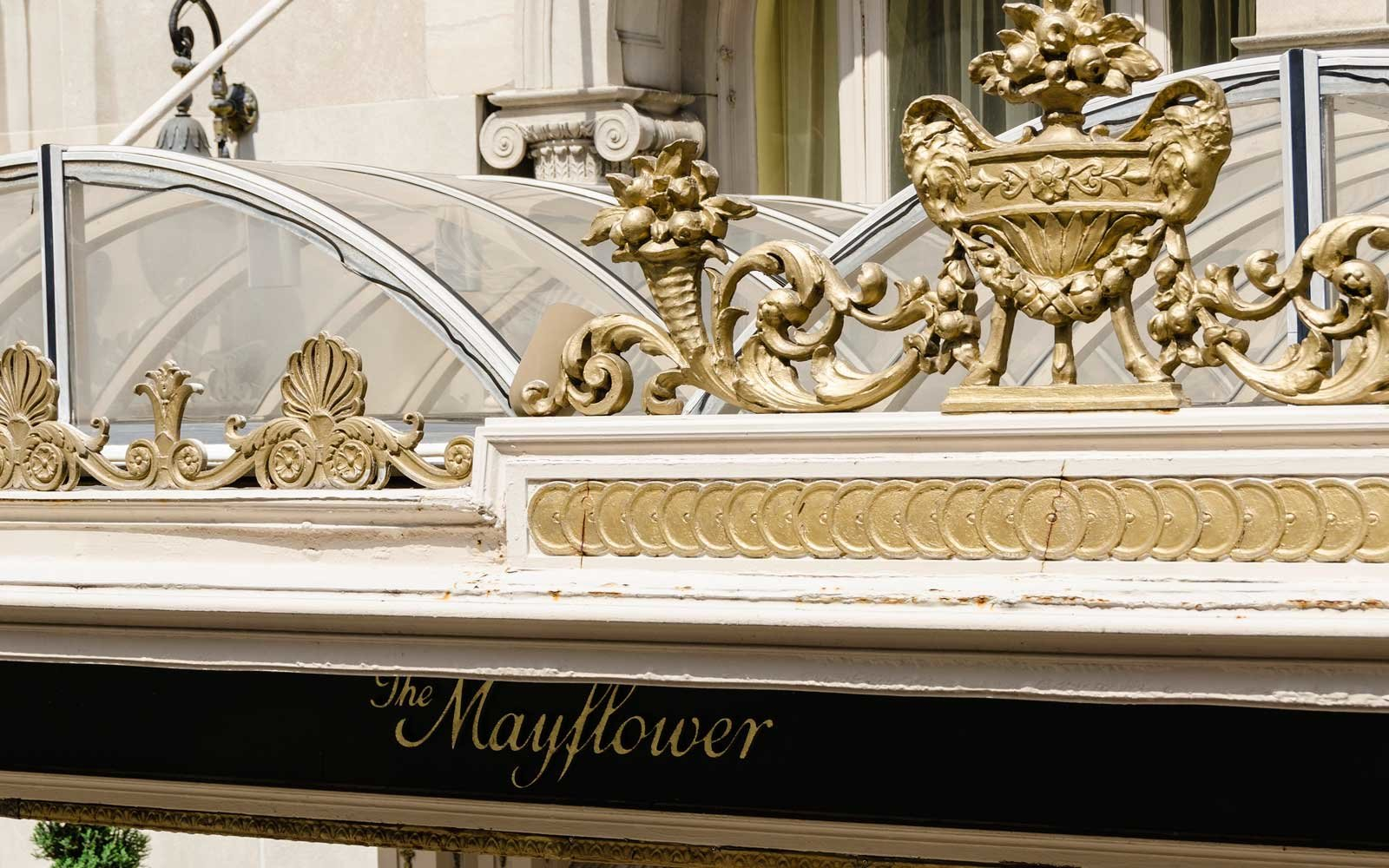 Sign of the Mayflower Hotel, in Washington, DC