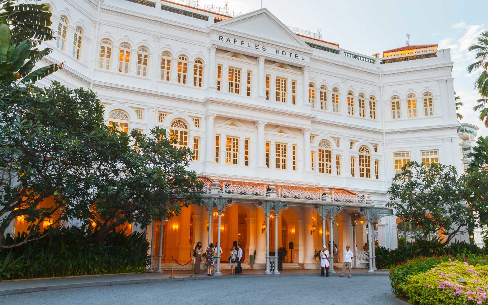 Exterior of the Raffles Hotel, in Singapore
