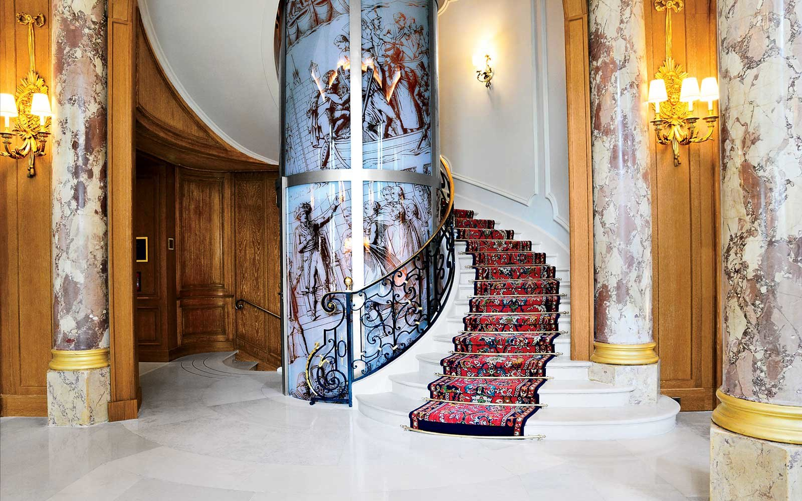 Staircase at the Ritz Paris