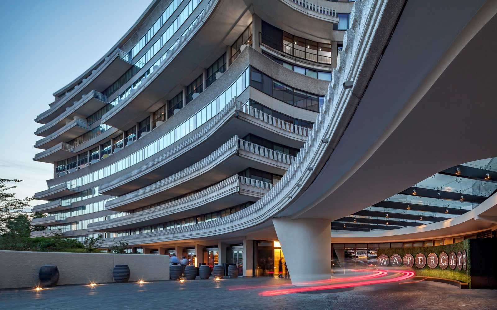 Exterior of the infamous Watergate hotel, in Washington DC