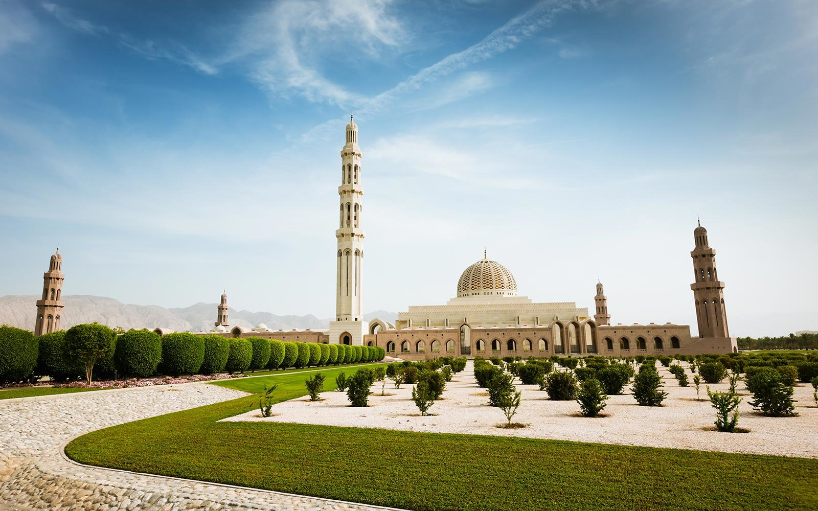 Oman Mosque Landmark Middle East