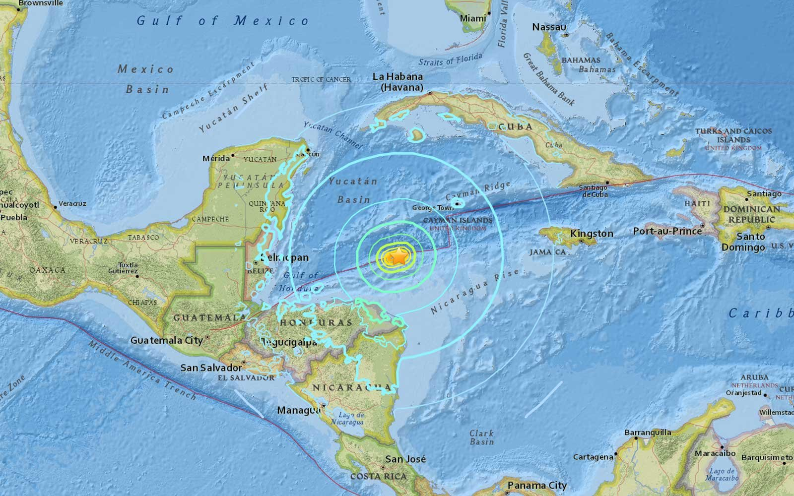7.6M Earthquake Shakes Country of Honduras