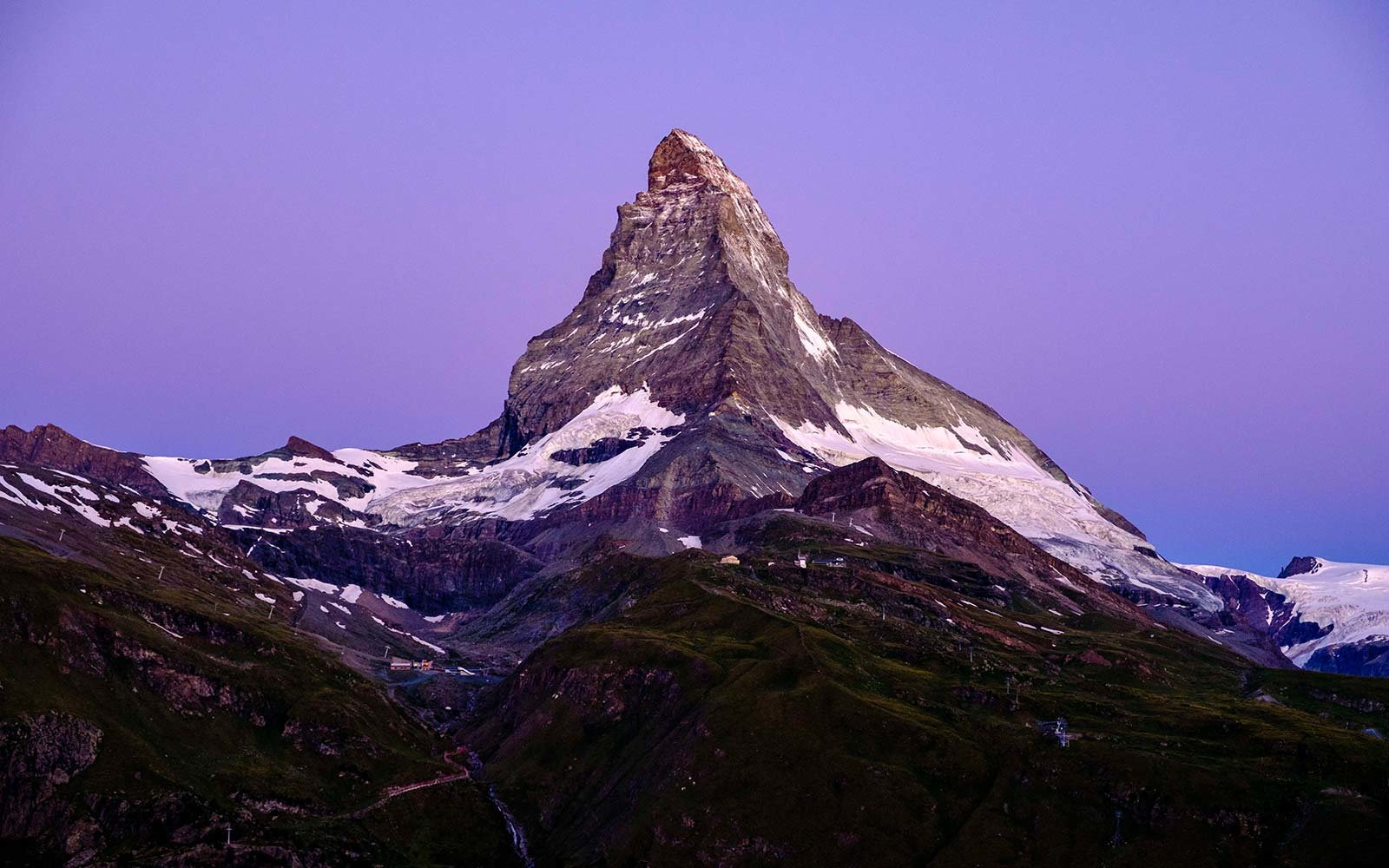 Pantone Purple Matterhorn Monte Cervino Switzerland