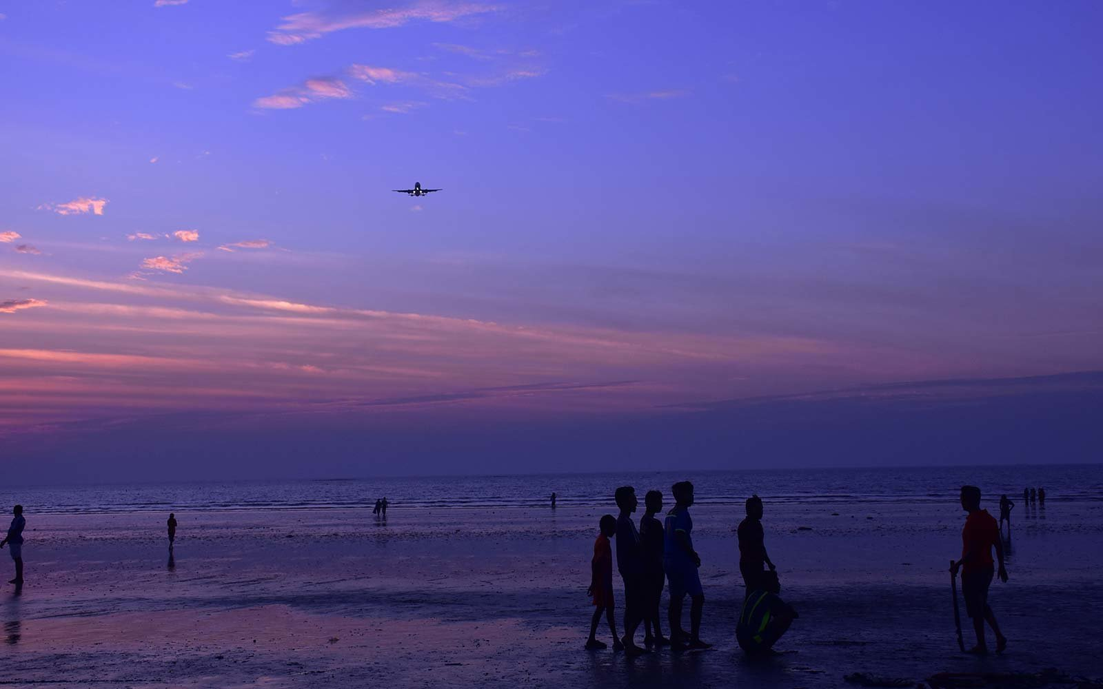 Pantone Purple Mumbai India Juhu Beach