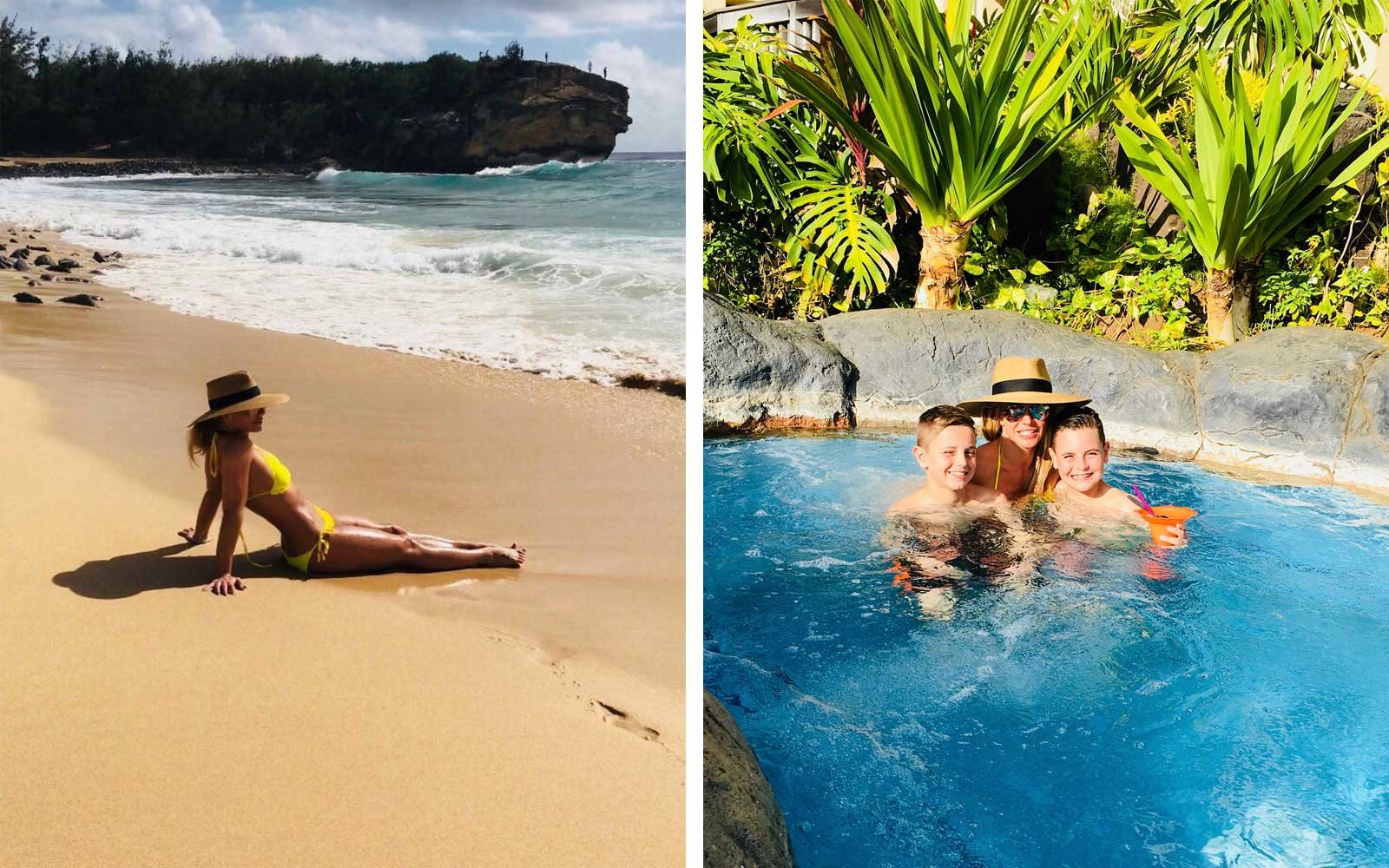 Britney Spears on vacation in Hawaii