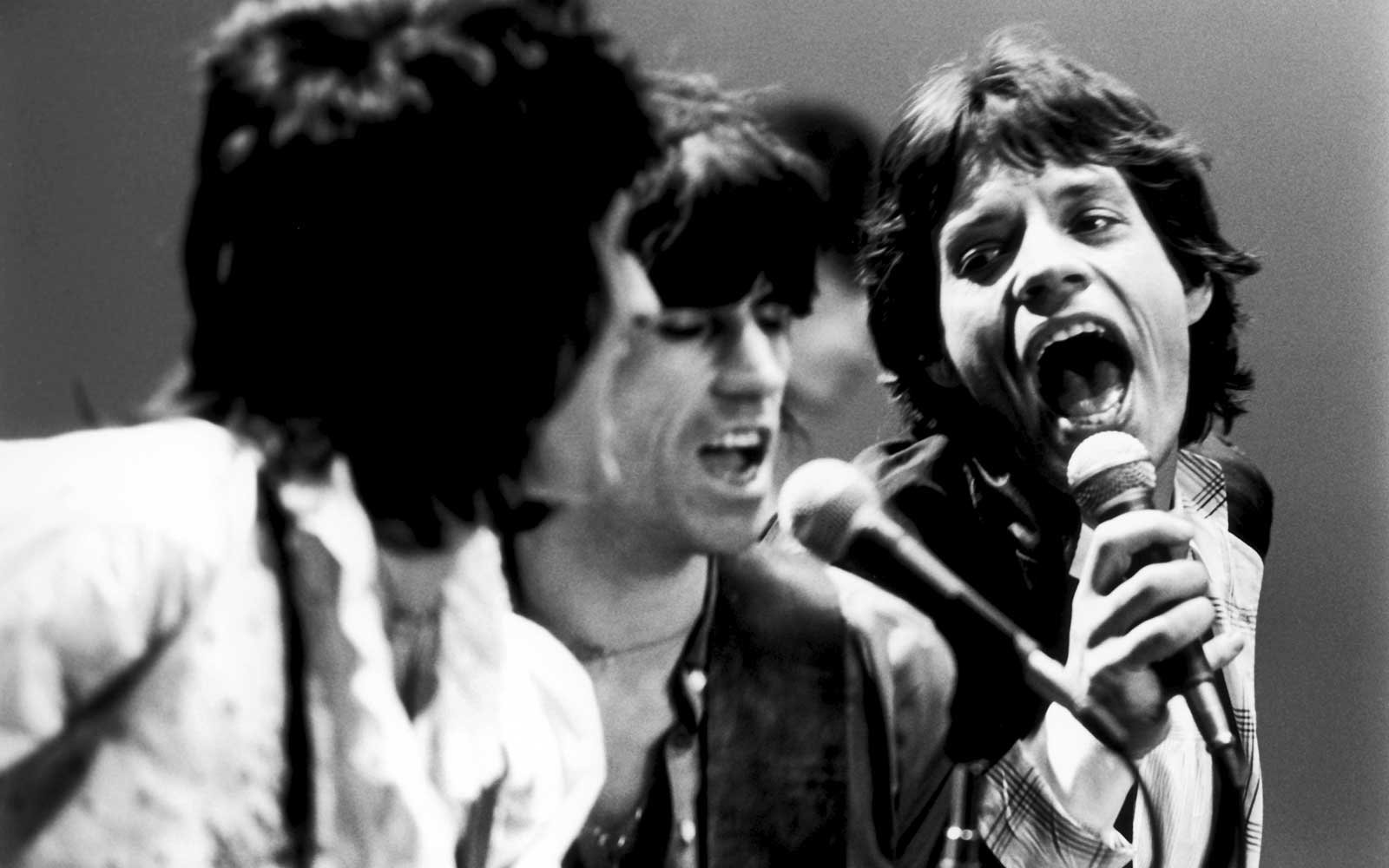 Rolling Stones On Stage In New York