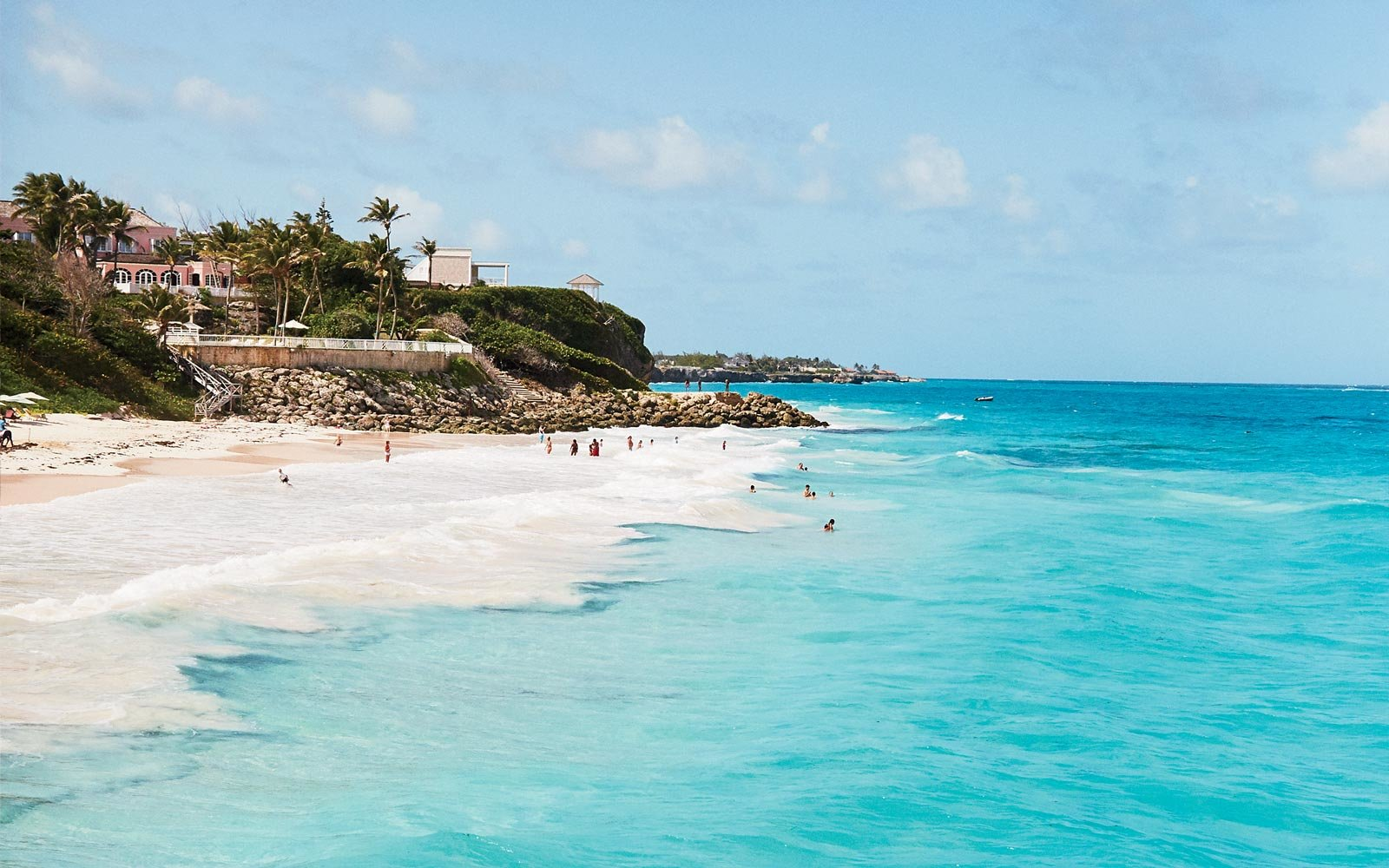 A sunny day at Crane Beach, in Barbados