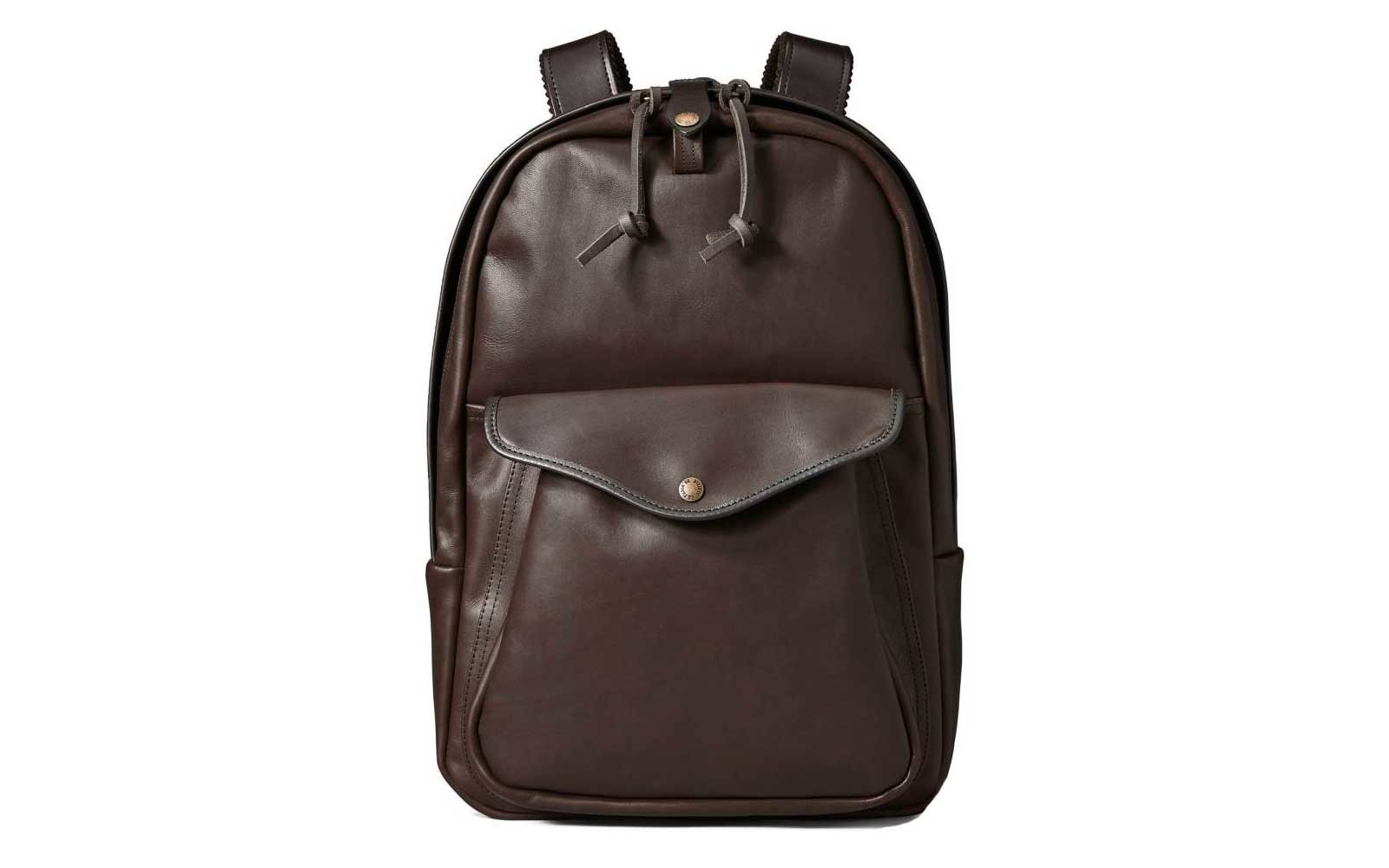 58ae42395f Water-repellent Leather  Filson. Leather backpack. Courtesy of Nordstrom