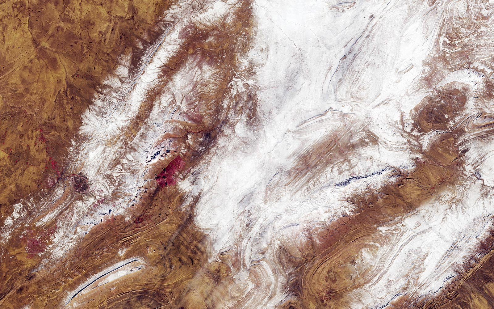 Sahara Desert Snow Winter Algeria NASA