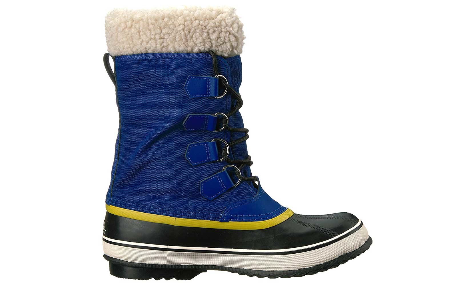 Blue Canvas Snow Boots