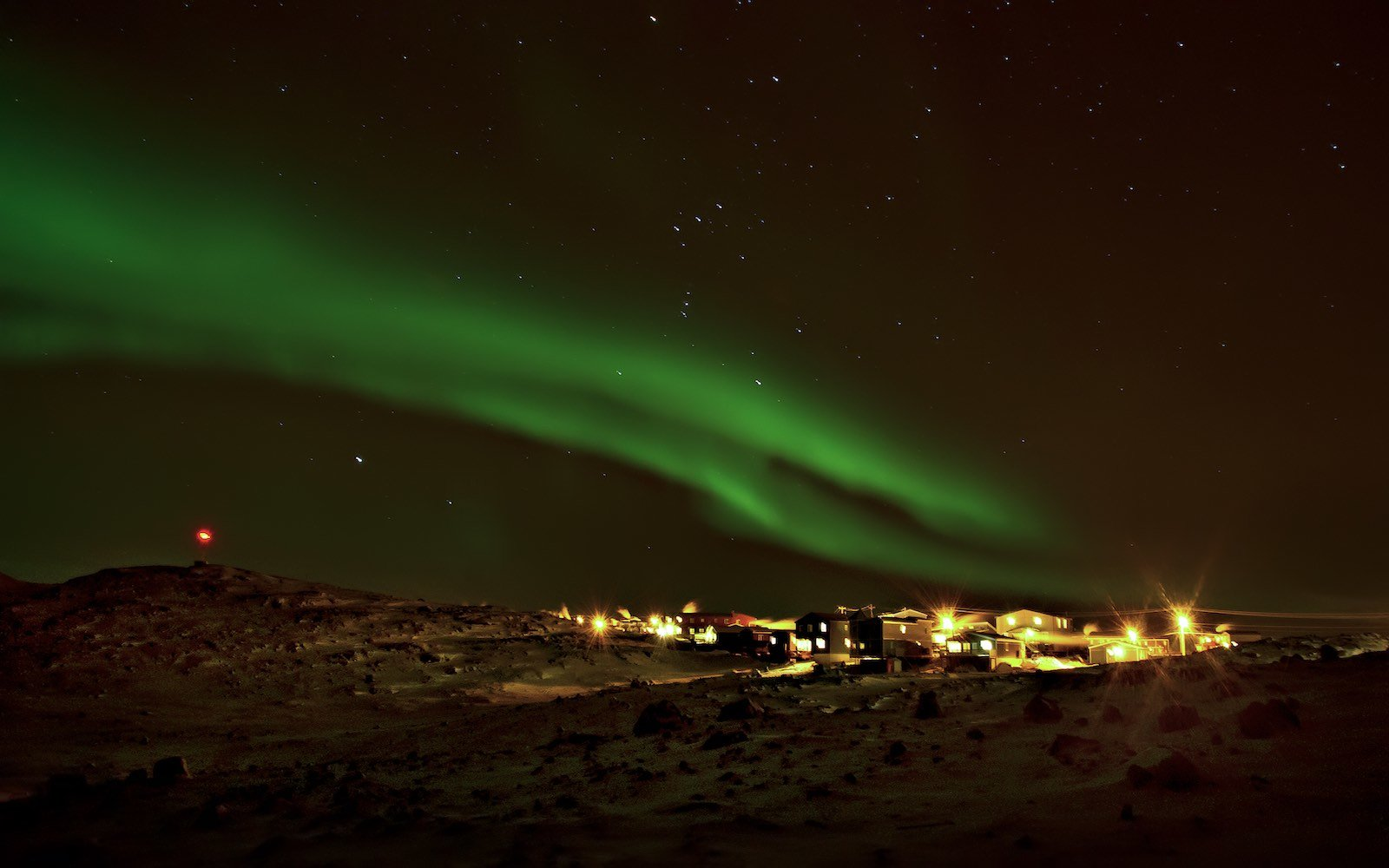 Aurora Borealis Northern Lights Iqaluit Canada
