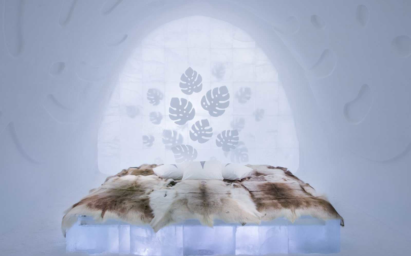 Aurora Borealis Northern Lights Jukkasjarvi Sweden Ice Hotel