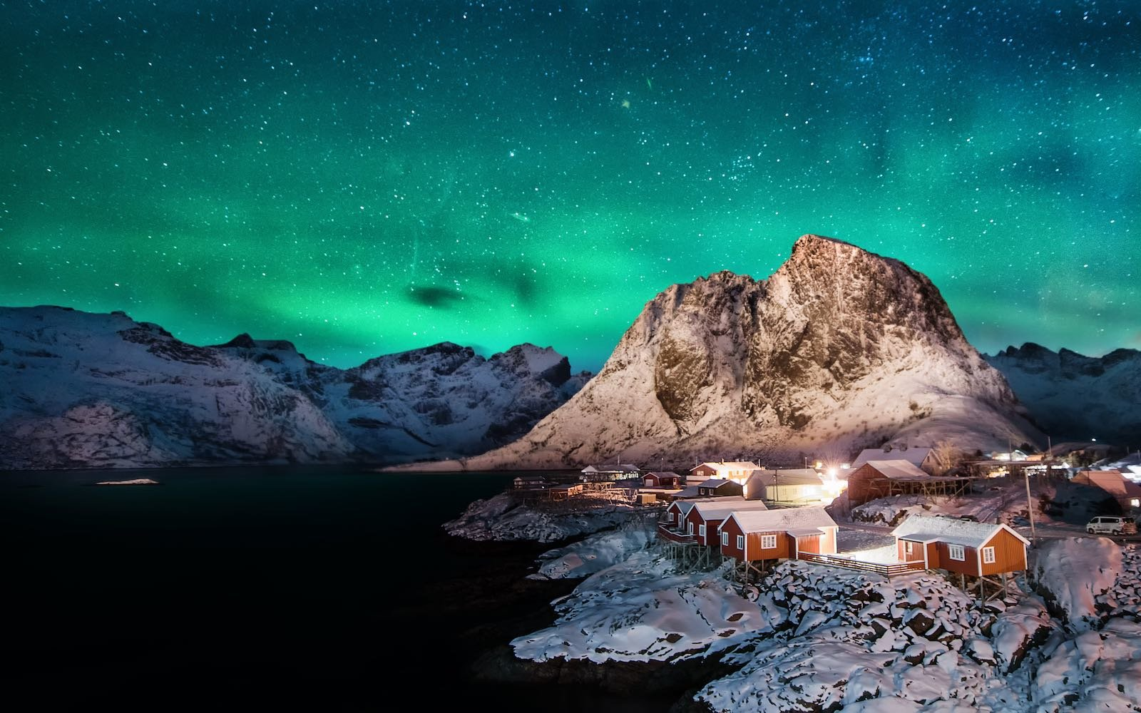 Aurora Borealis Northern Lights Lofoten Islands Norway