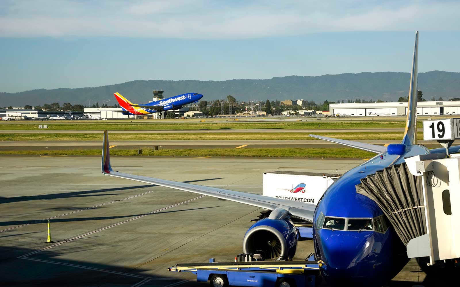 Southwest Airlines at San Jose International Airport