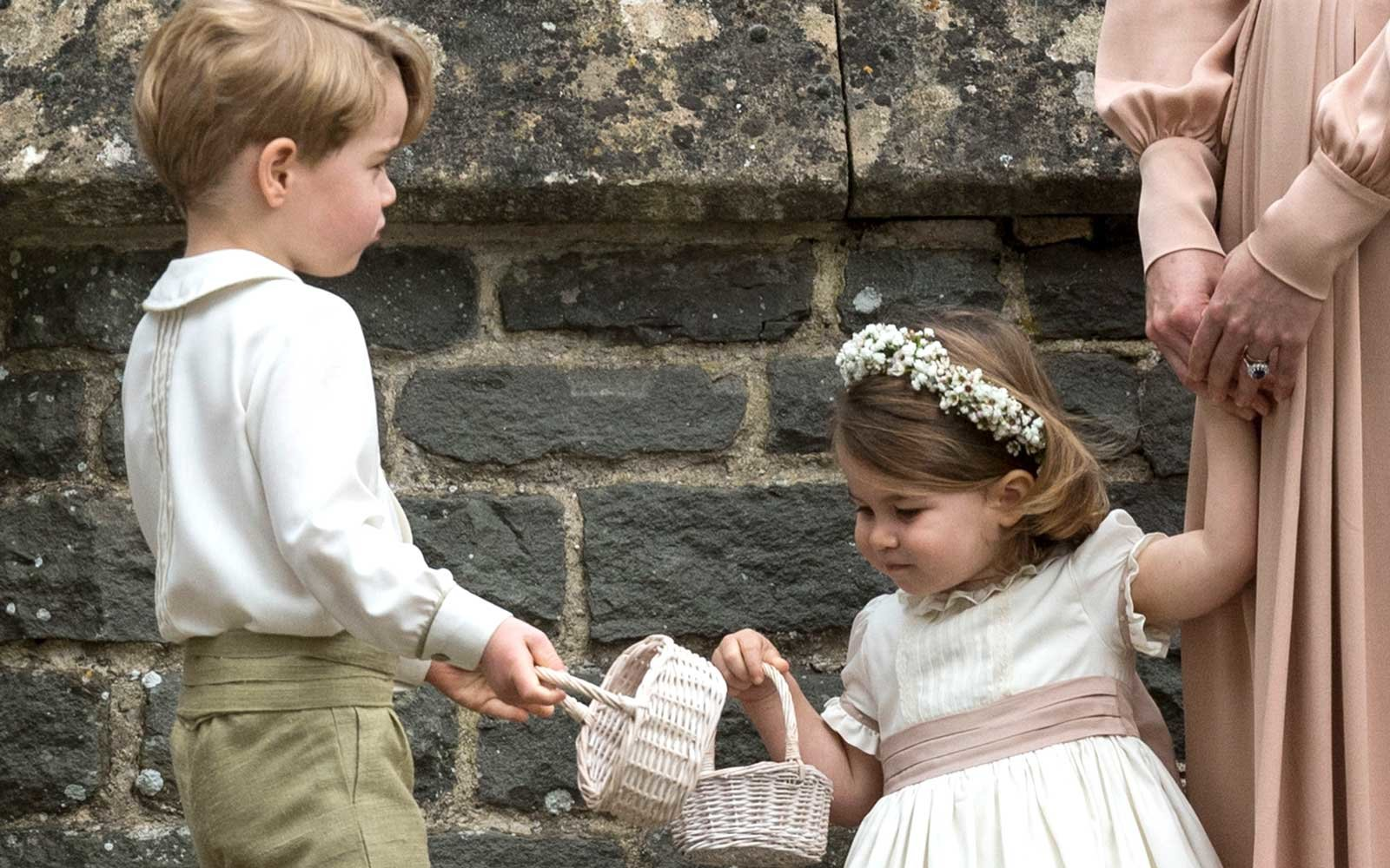 Prince George and Princess Charlotte at Pippa Middleton's Wedding
