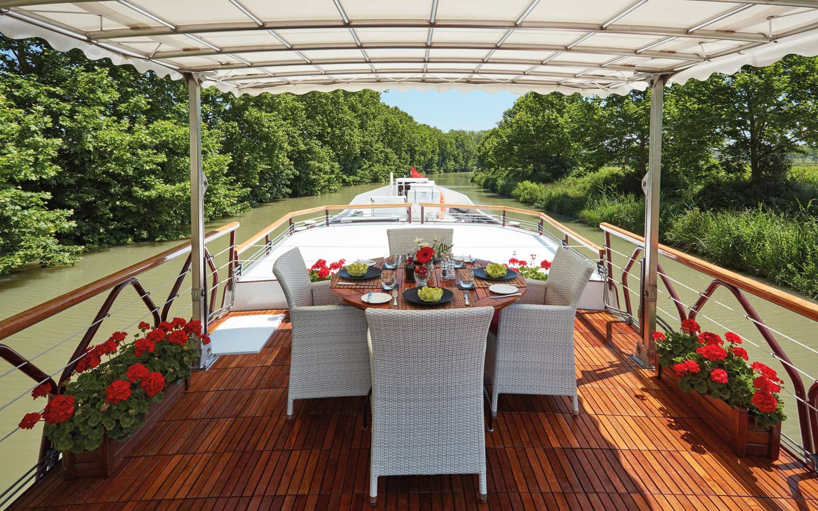 Cruising on a small Belmond barge in France