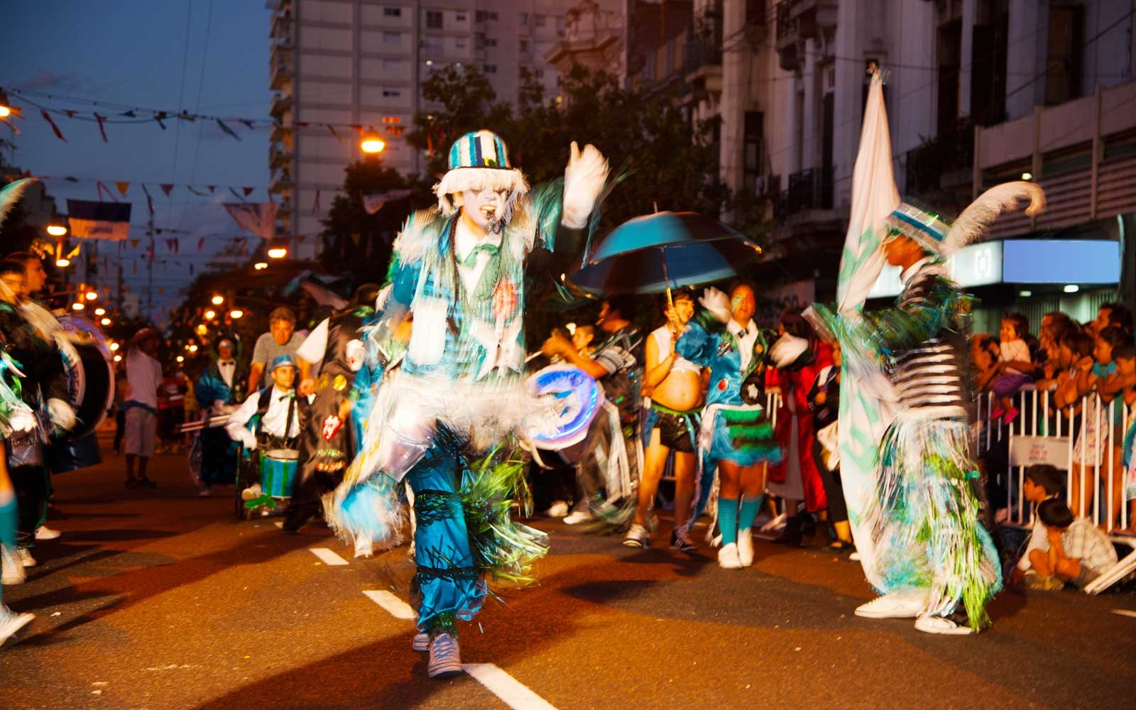 Dancers in a parade in Buenos Aires, Argentina