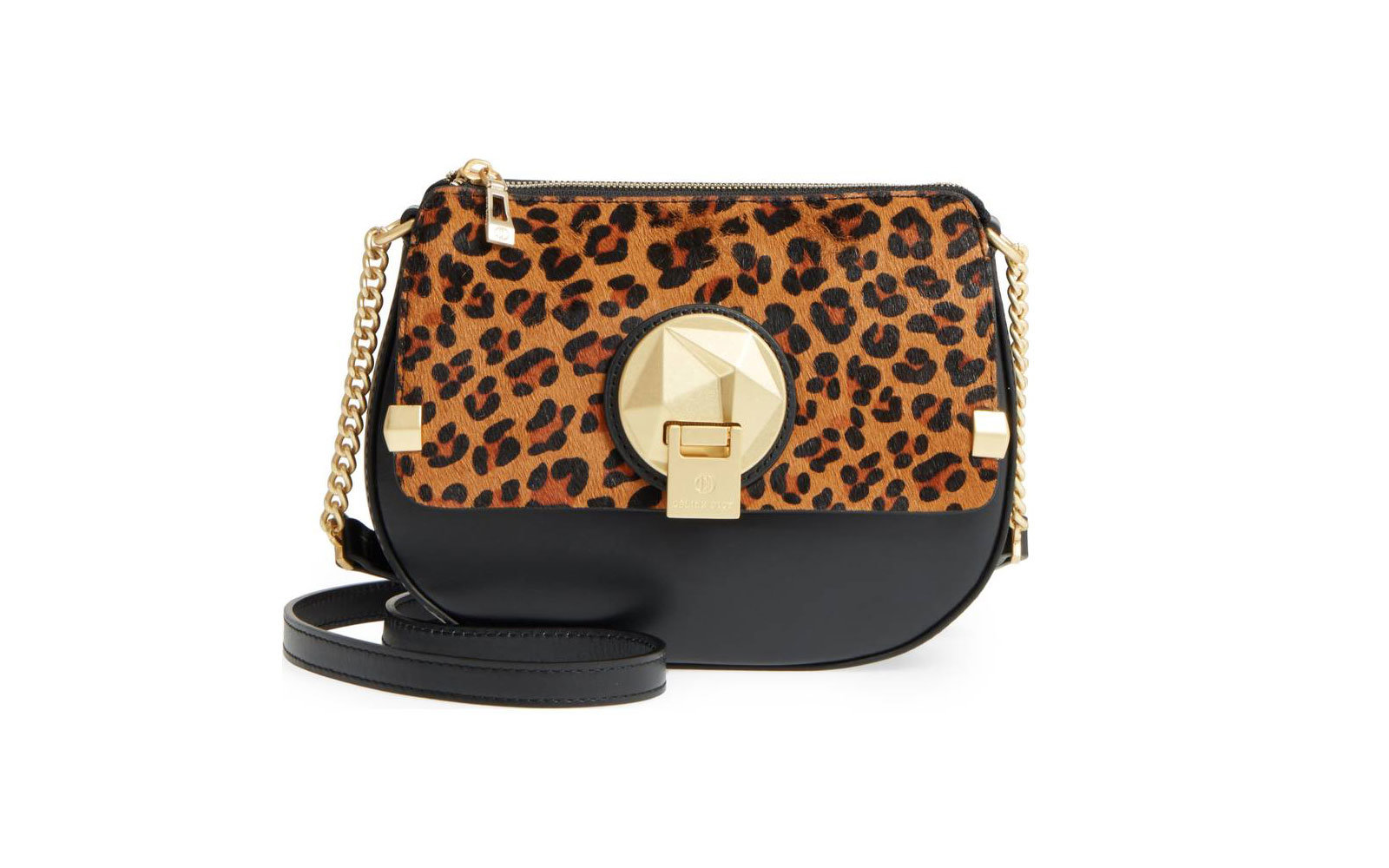 Octave Leather Crossbody Bag in Leopard
