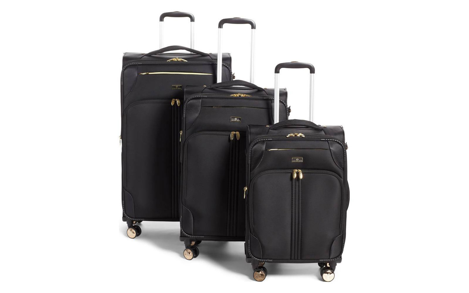 Trio 3-Piece Rolling Luggage Set in Black