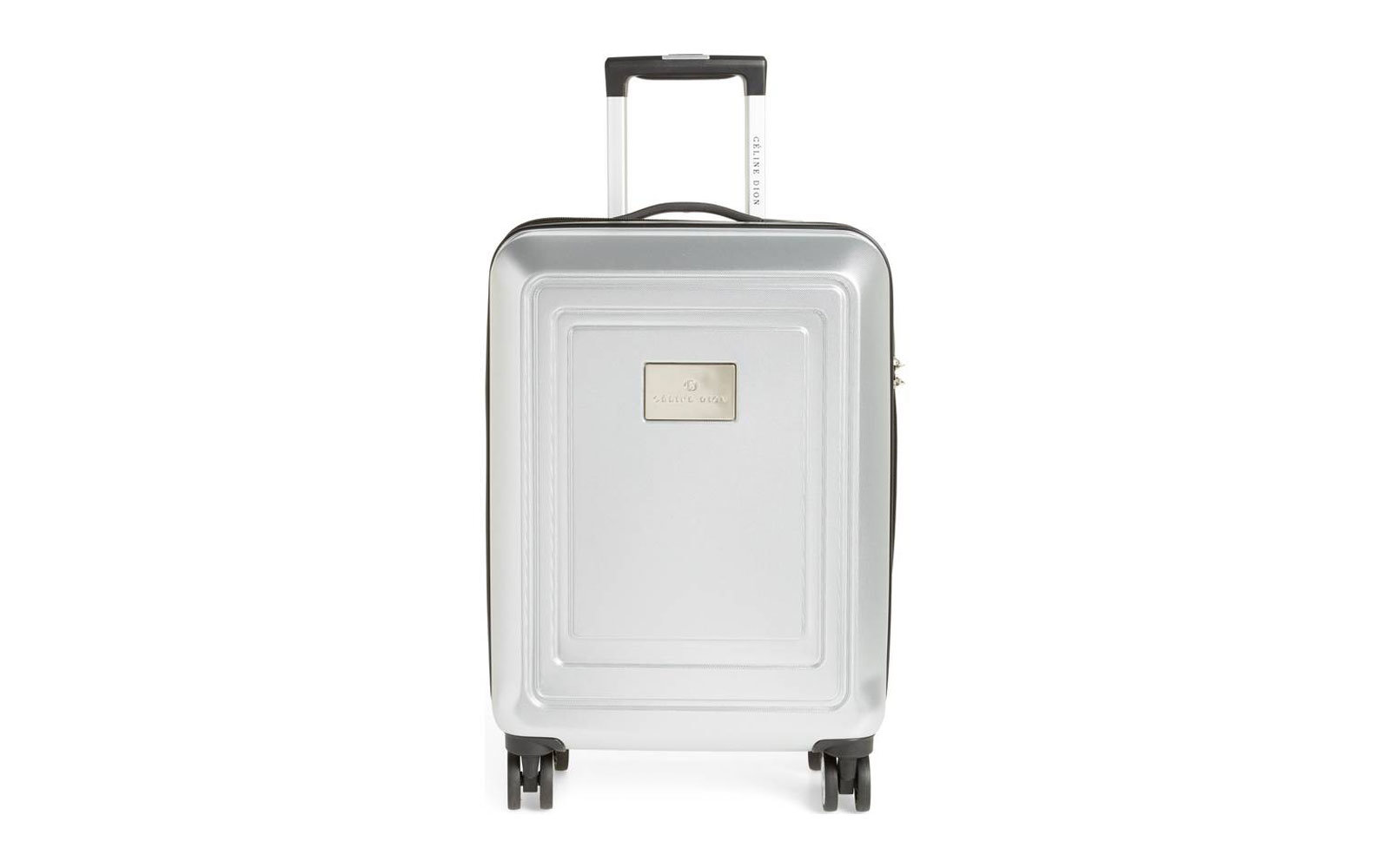 Celine Dion silver luggage