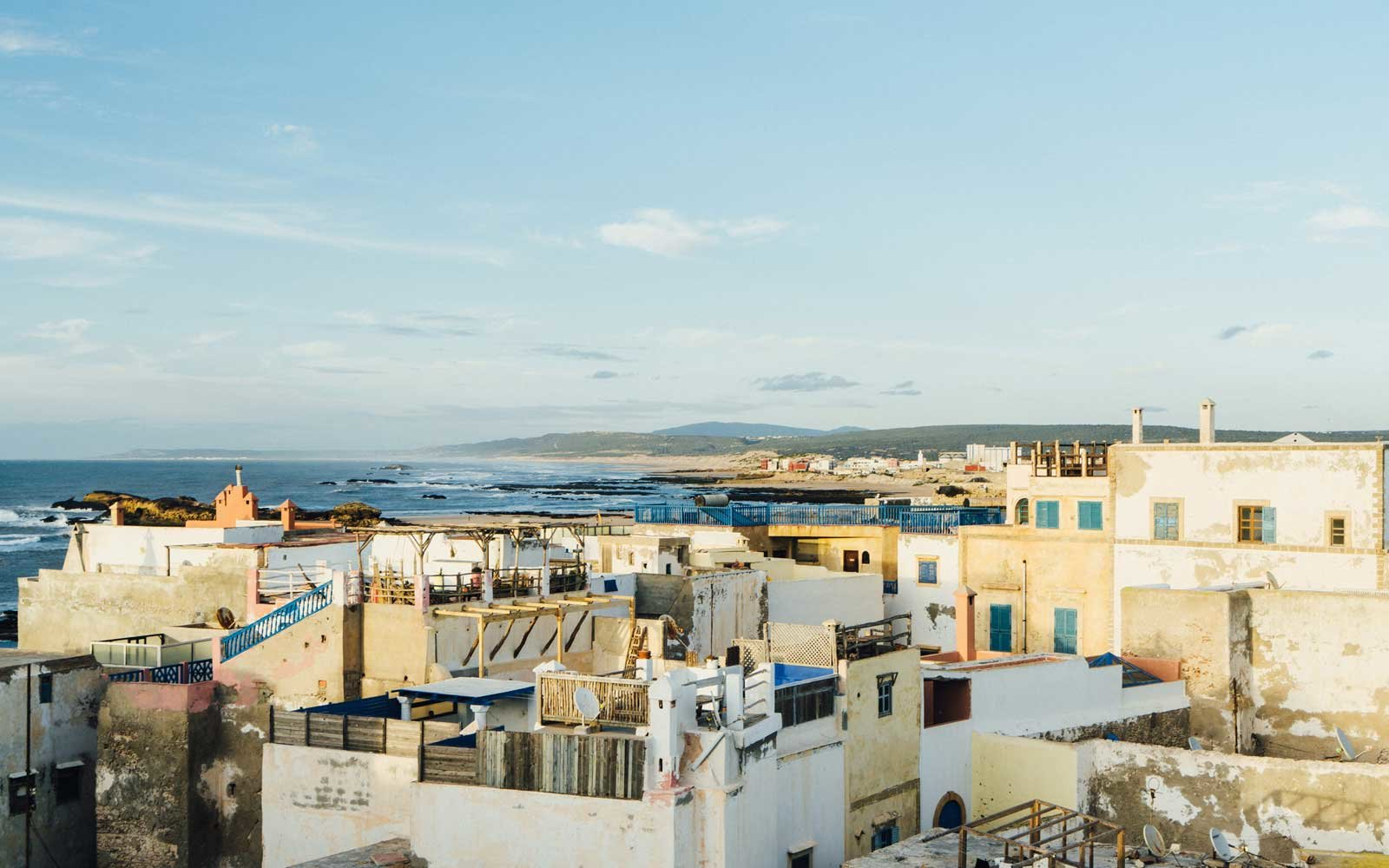 View from roof on Essaouria, Morocco