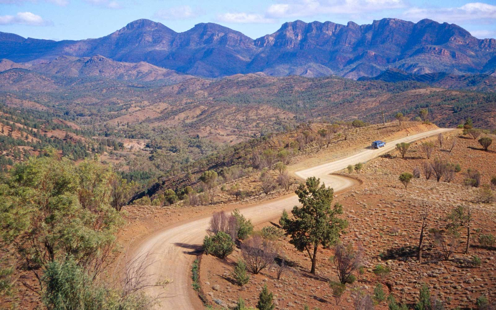 Winding Road through South Australia's, Flinders Ranges National Park.