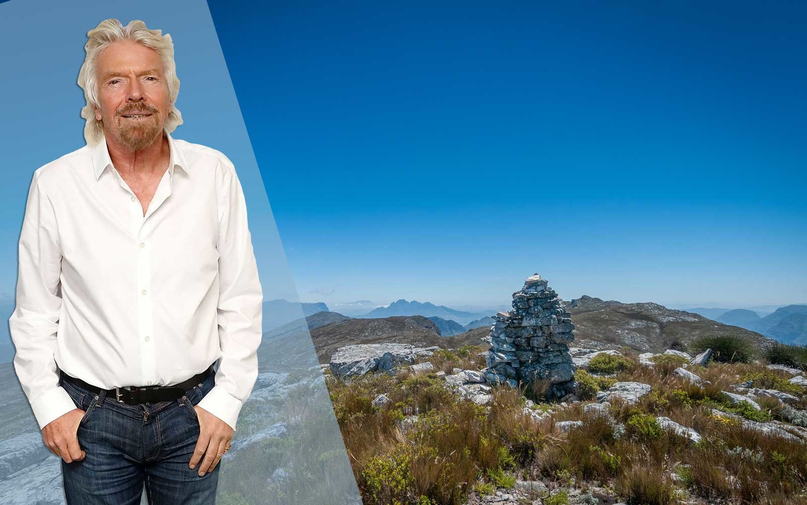 Richard Branson; Mont Rochelle, South Africa
