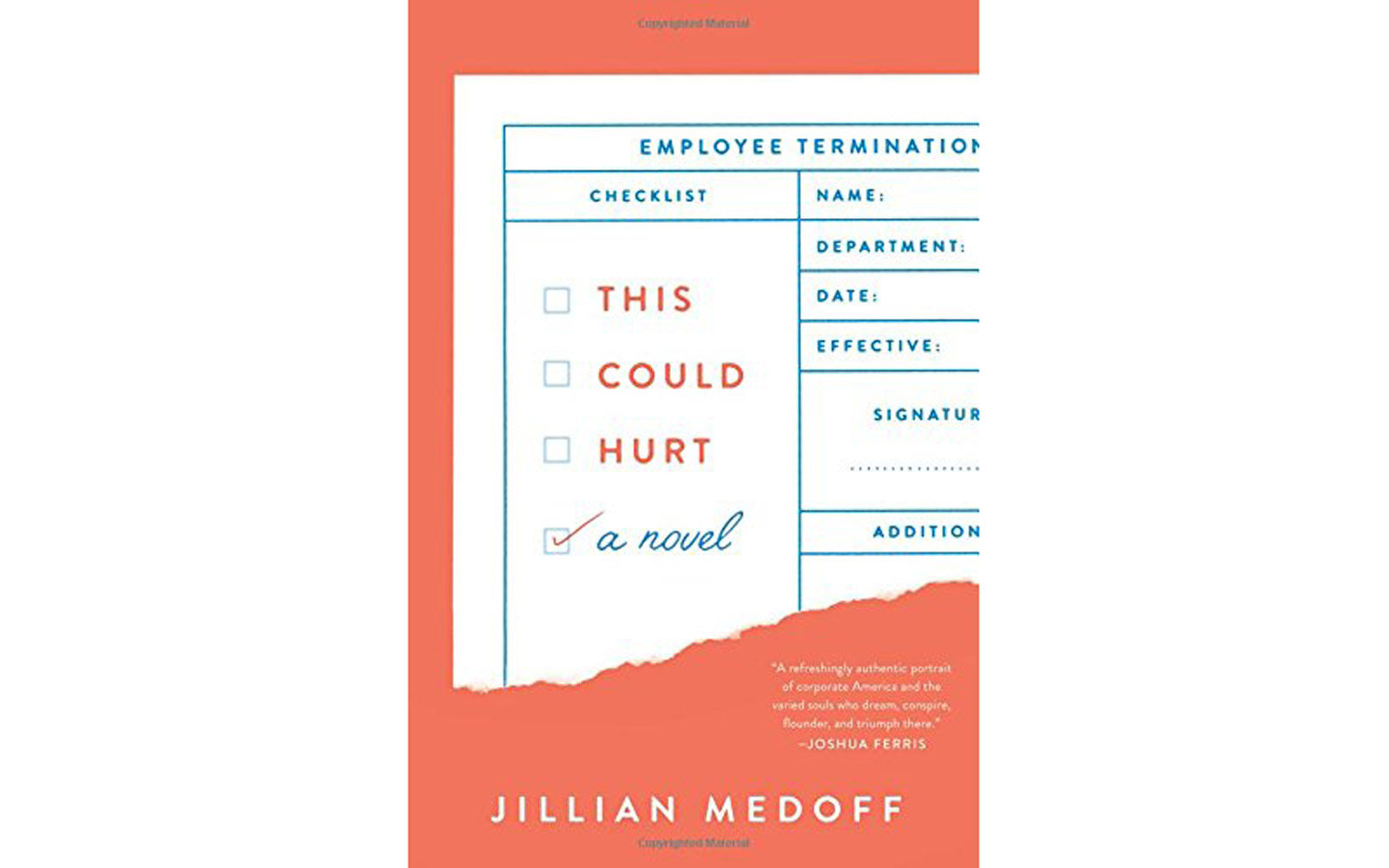 'This Could Hurt' by Jillian Medoff