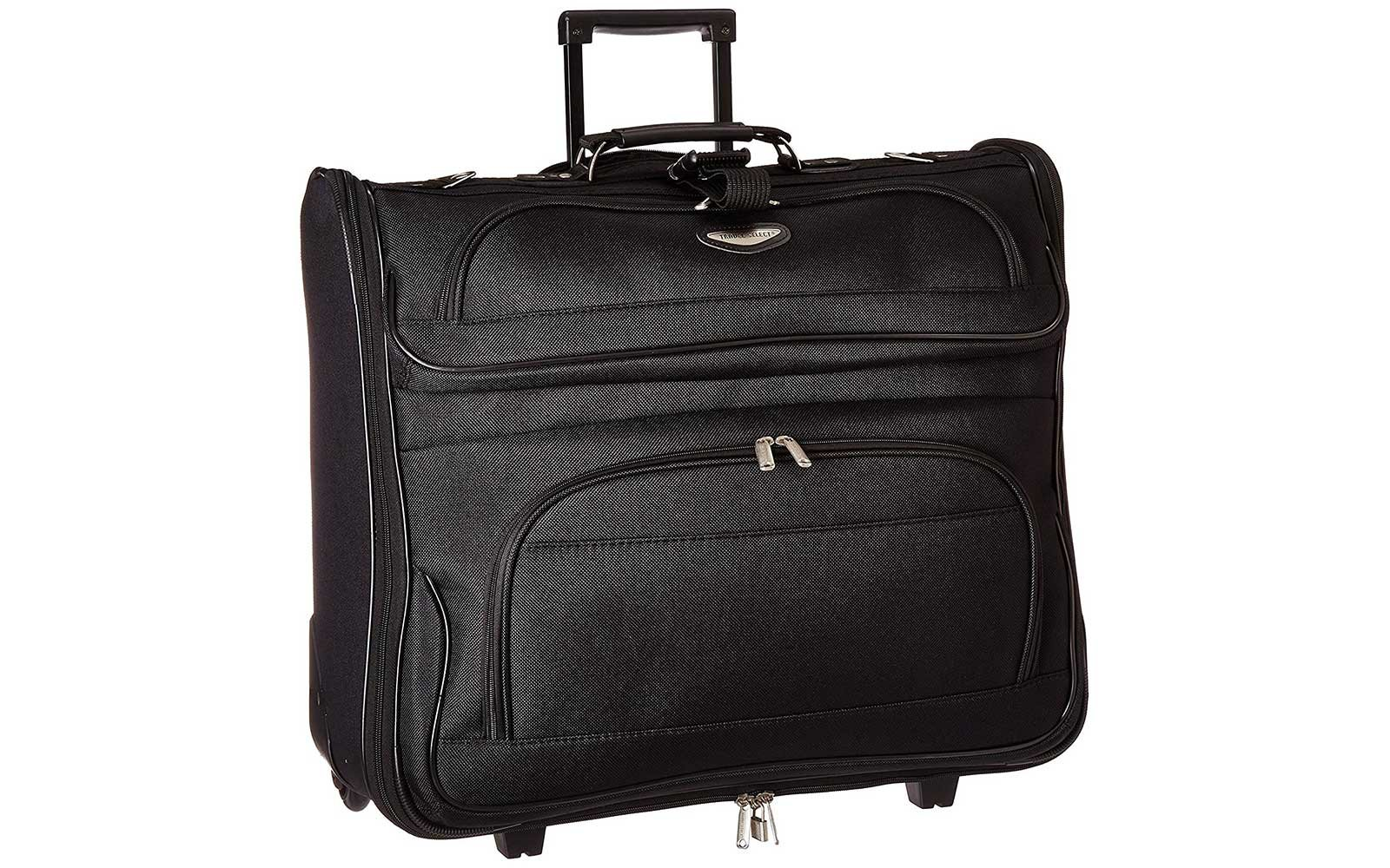 Rolling garment bag for travel