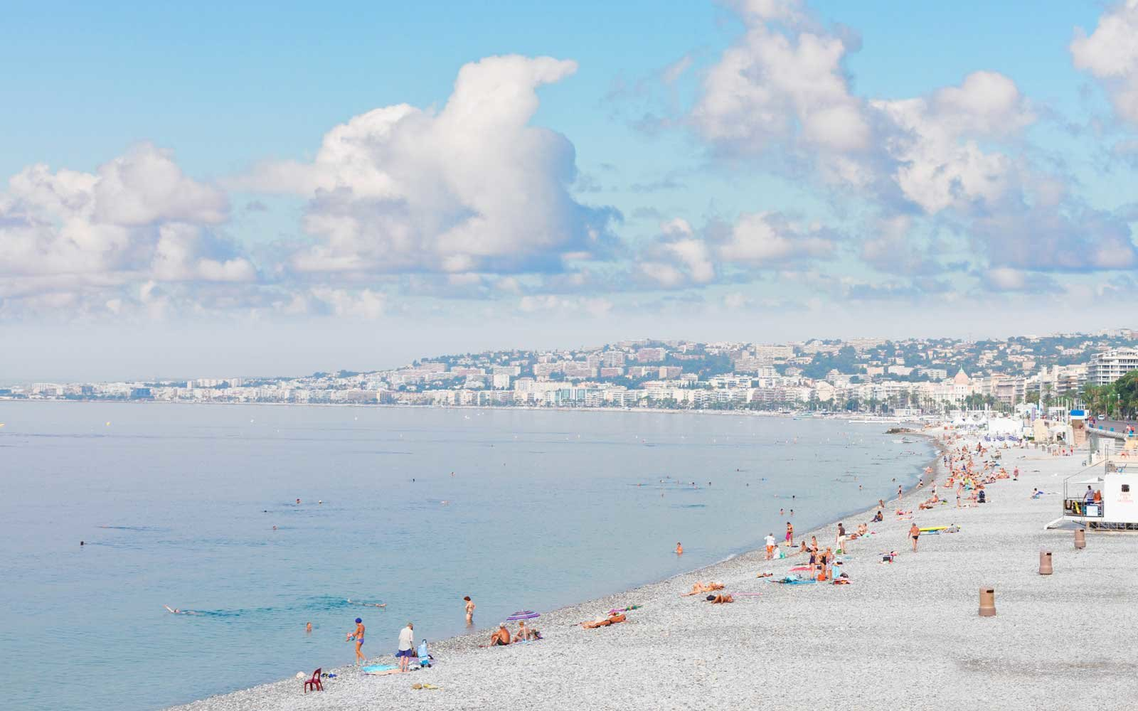 Promenade des Anglais and coast line Nice, cote dAzur, France.