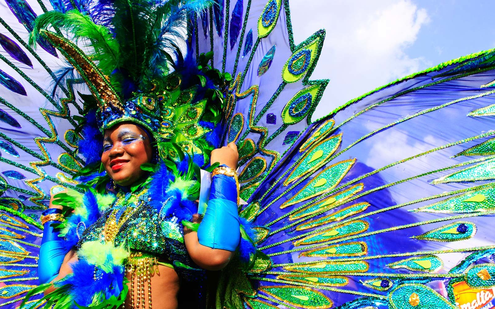Trinidad Port of Spain Queens Park Carnival Celebration