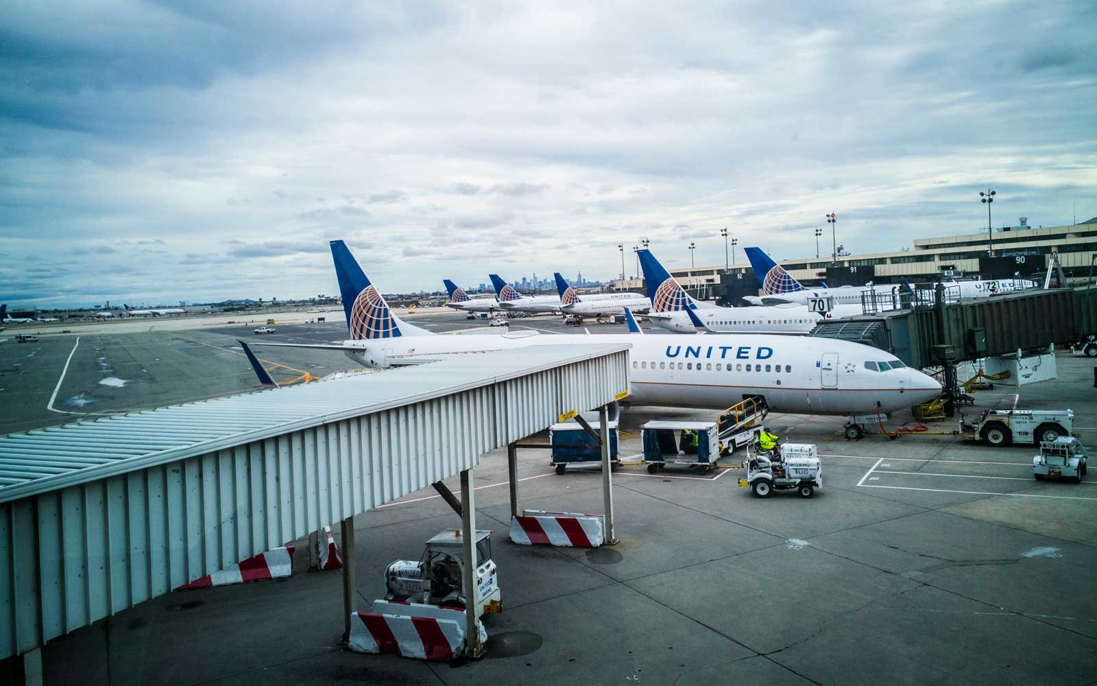 United Airlines  at Newark International Airport