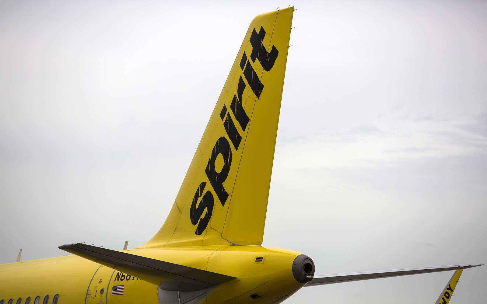 Spirit Airlines Plane at gate