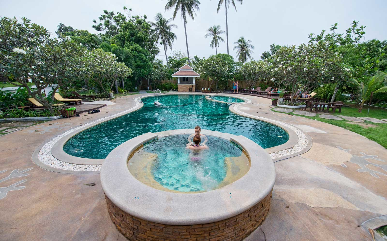 The pool at Ban's Diving Resort, in Thailand