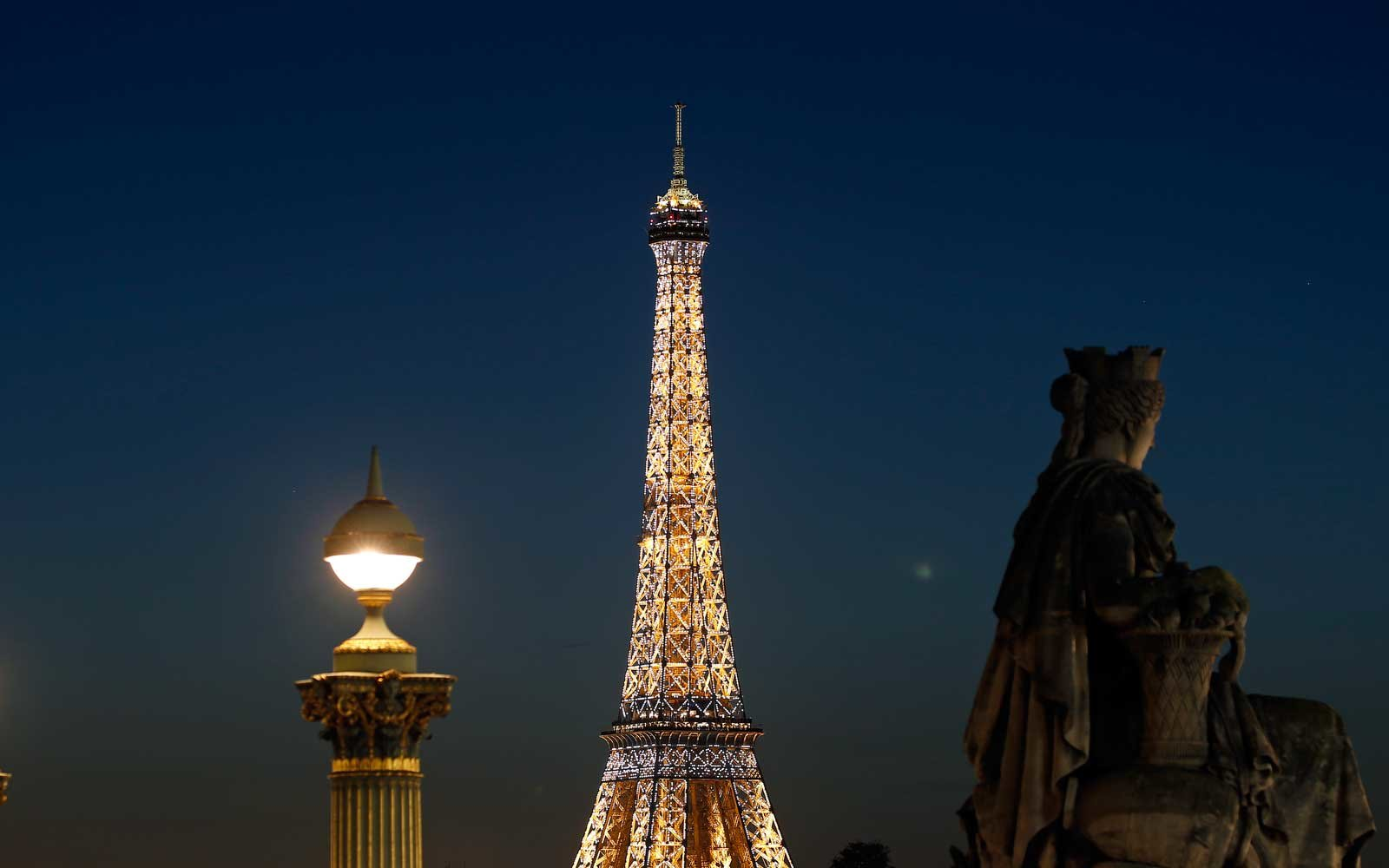 Lights of the Eiffel Tower in Paris