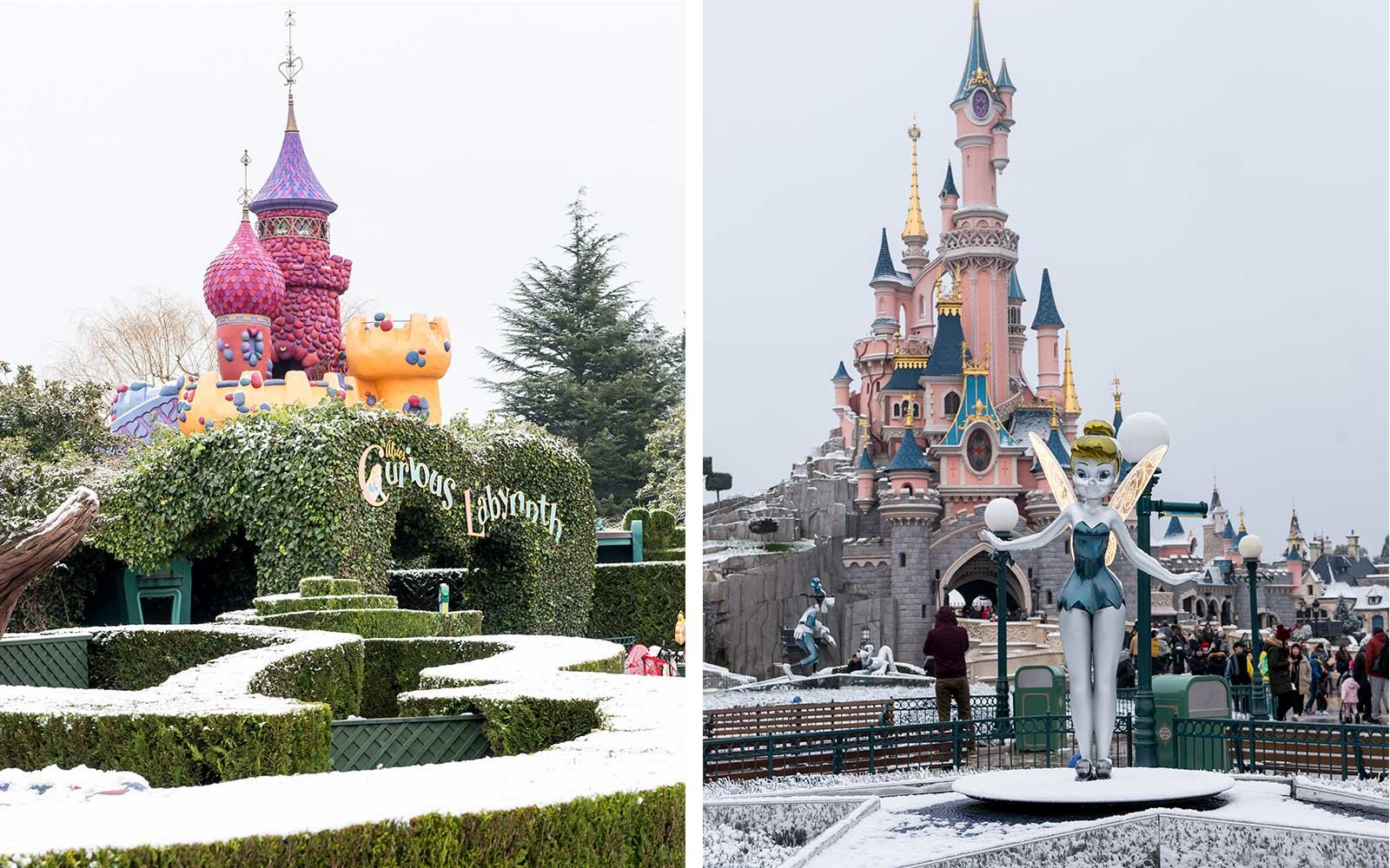 Disneyland Paris under snow 2018