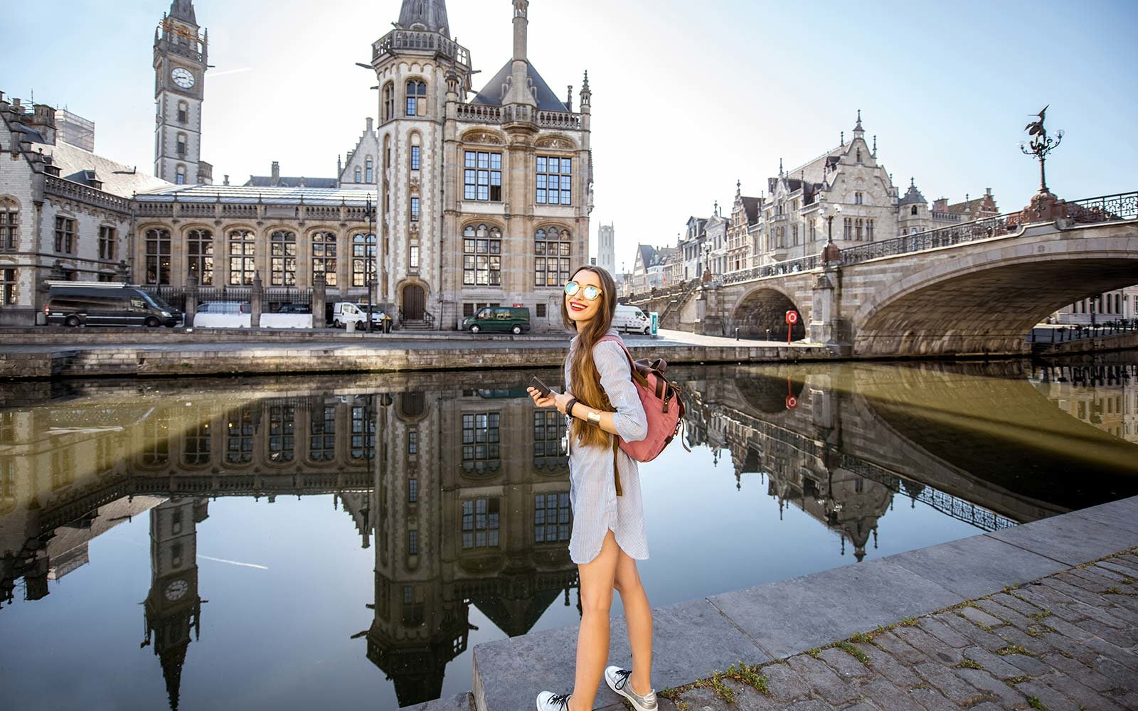 Female Abroad Travel Ghent Belgium