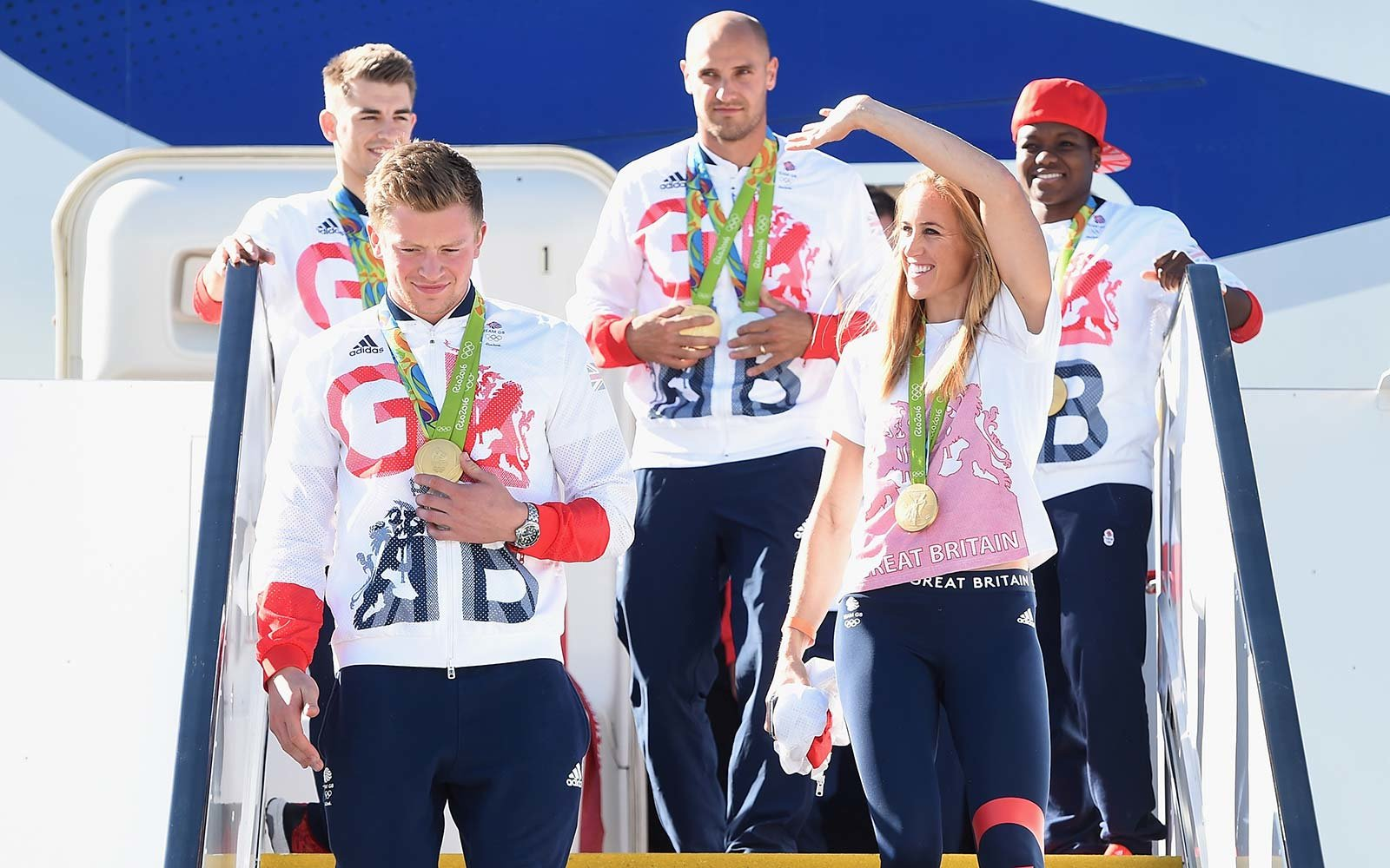 Olympic Athletes Airport Airplane Medals Sport