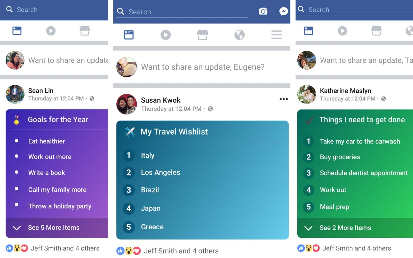 Facebook Lists feature