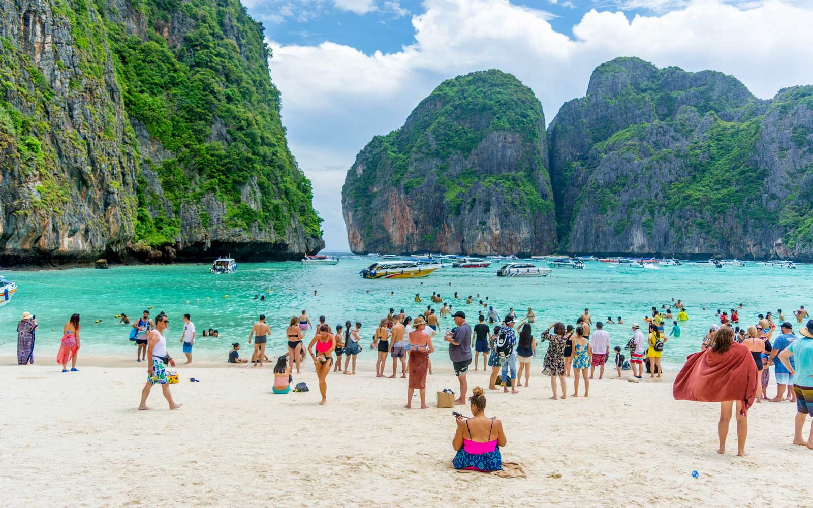 Famous Thailand Beach Closing for Three Months for Restoration