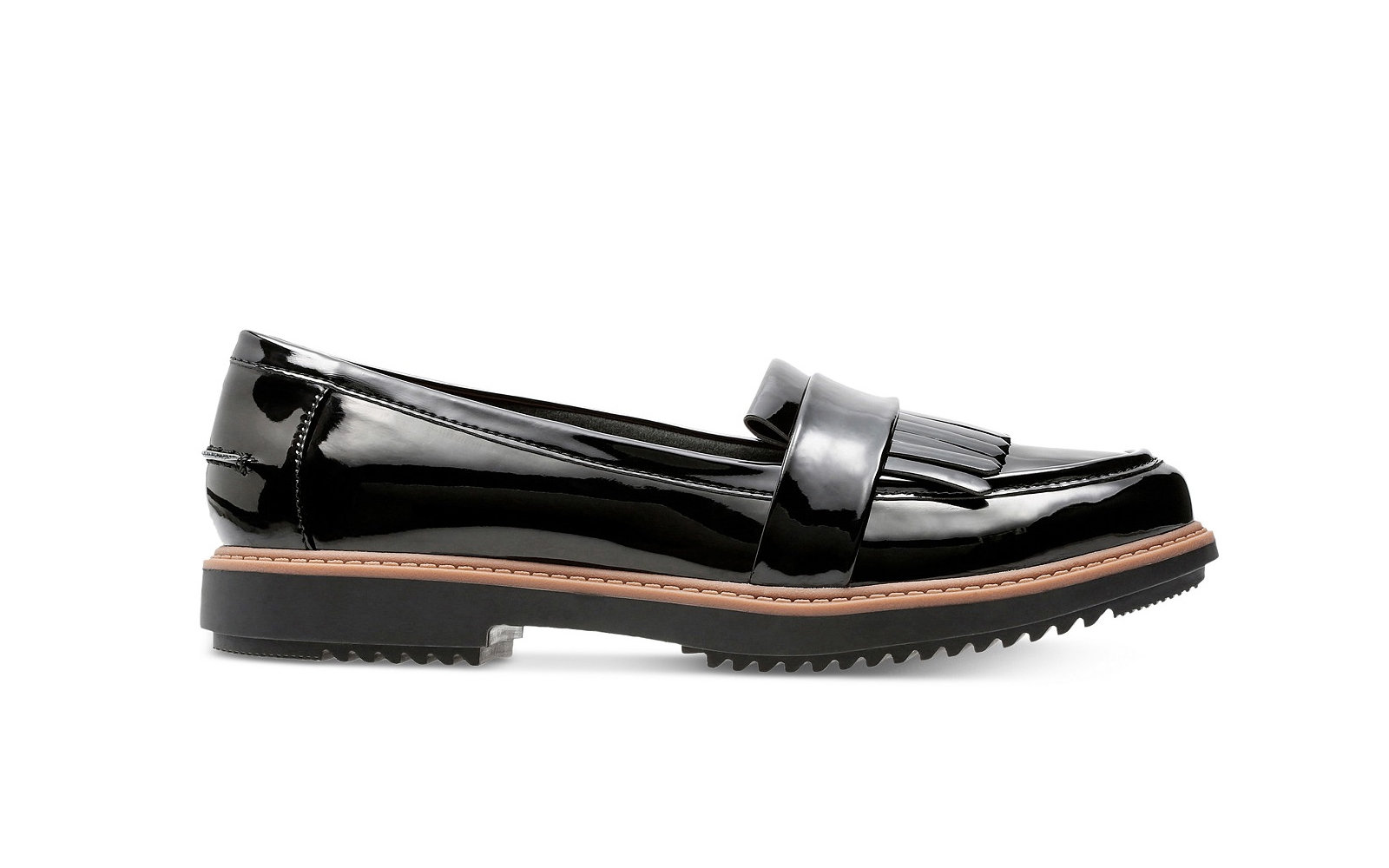 f903d1c7970 Clarks Collection Women s Raisie Theresa Loafers in Black Patent. Comfy  Walking Shoes ...
