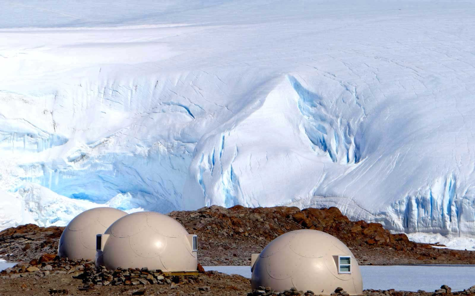 Sleeping pods at White Desert, in Antarctica