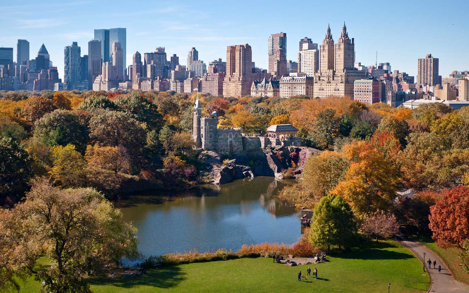 Central Park West Skyline in Autumn