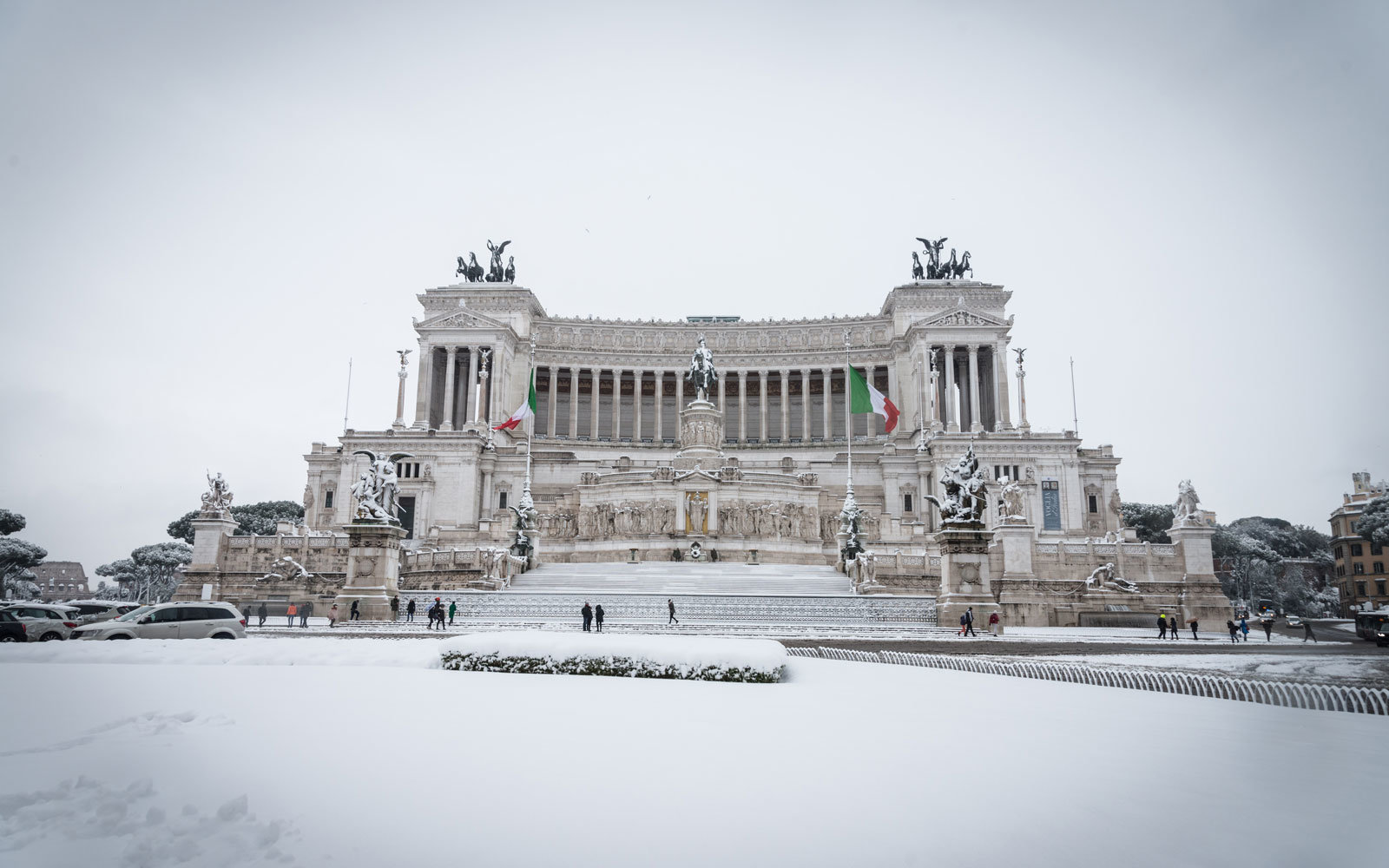 rome covered in snow